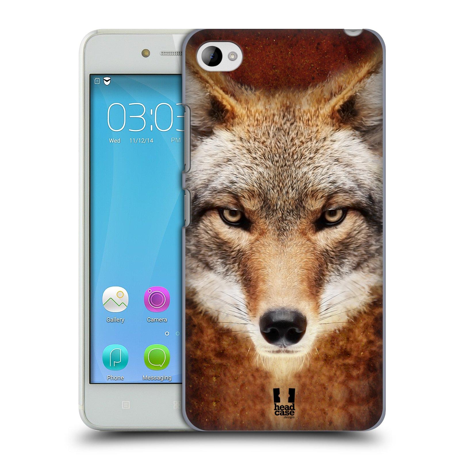 HEAD CASE pevný plastový obal na mobil LENOVO S90 vzor Zvířecí tváře kojot