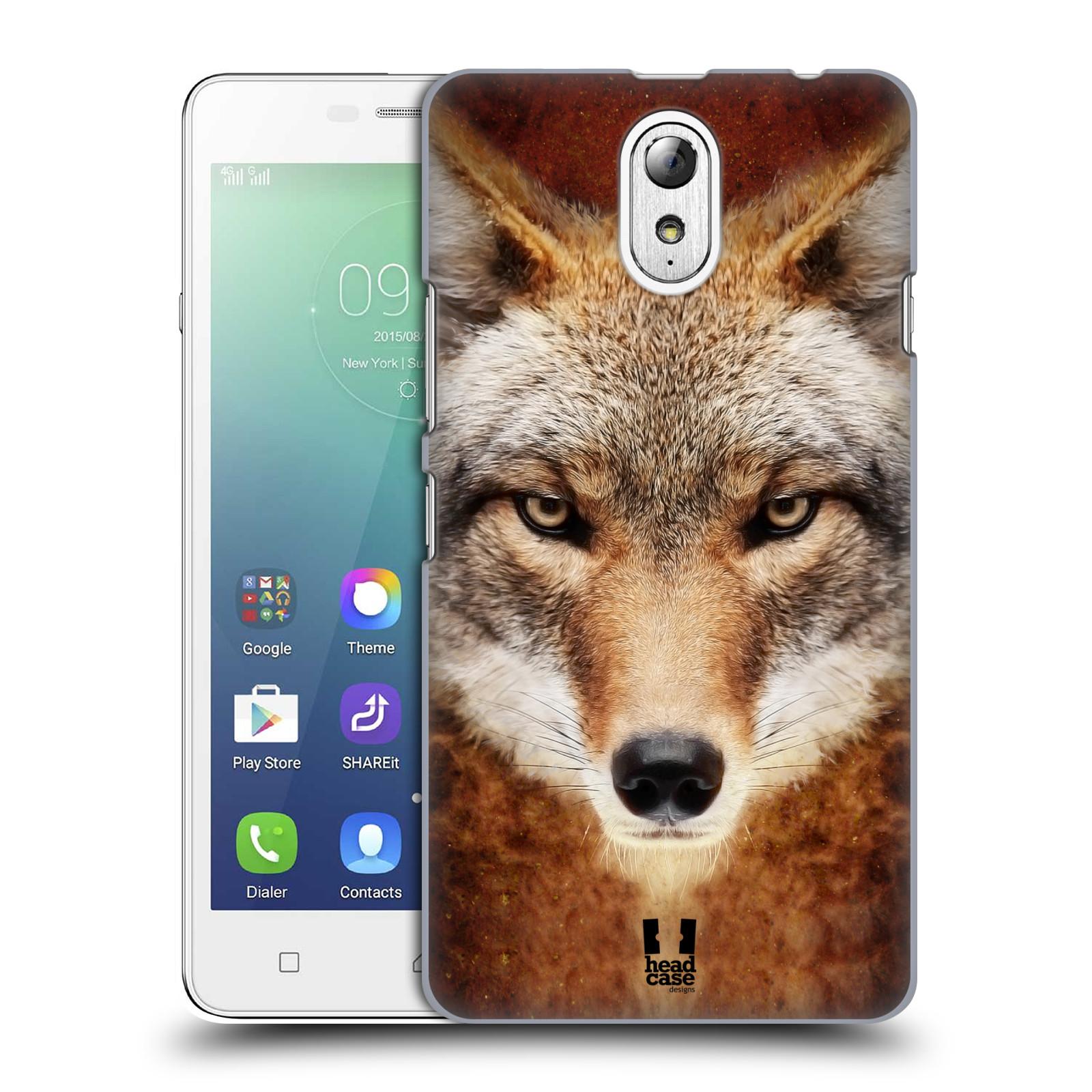 HEAD CASE pevný plastový obal na mobil LENOVO VIBE P1m / LENOVO VIBE p1m DUAL SIM vzor Zvířecí tváře kojot