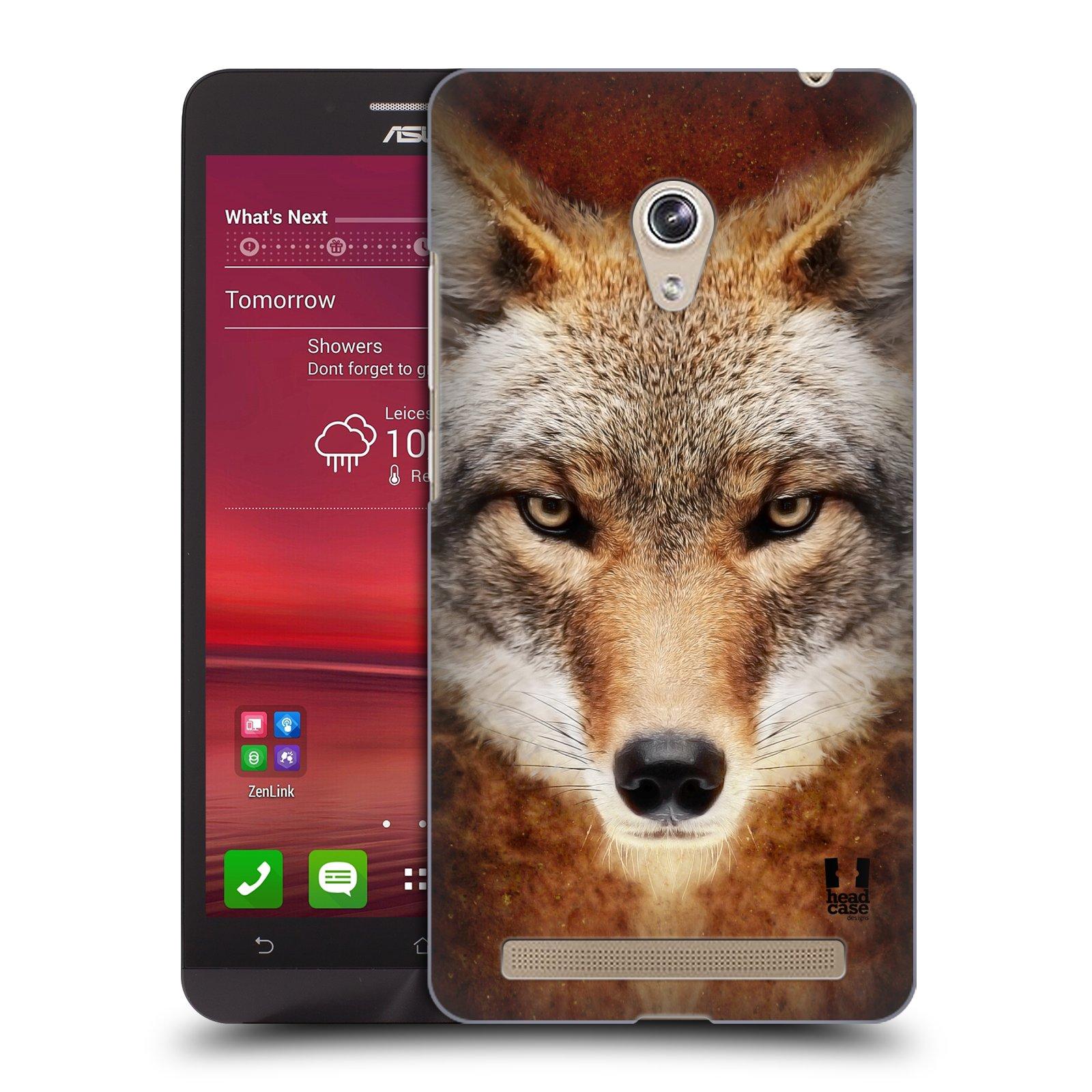 HEAD CASE plastový obal na mobil Asus Zenfone 6 vzor Zvířecí tváře kojot