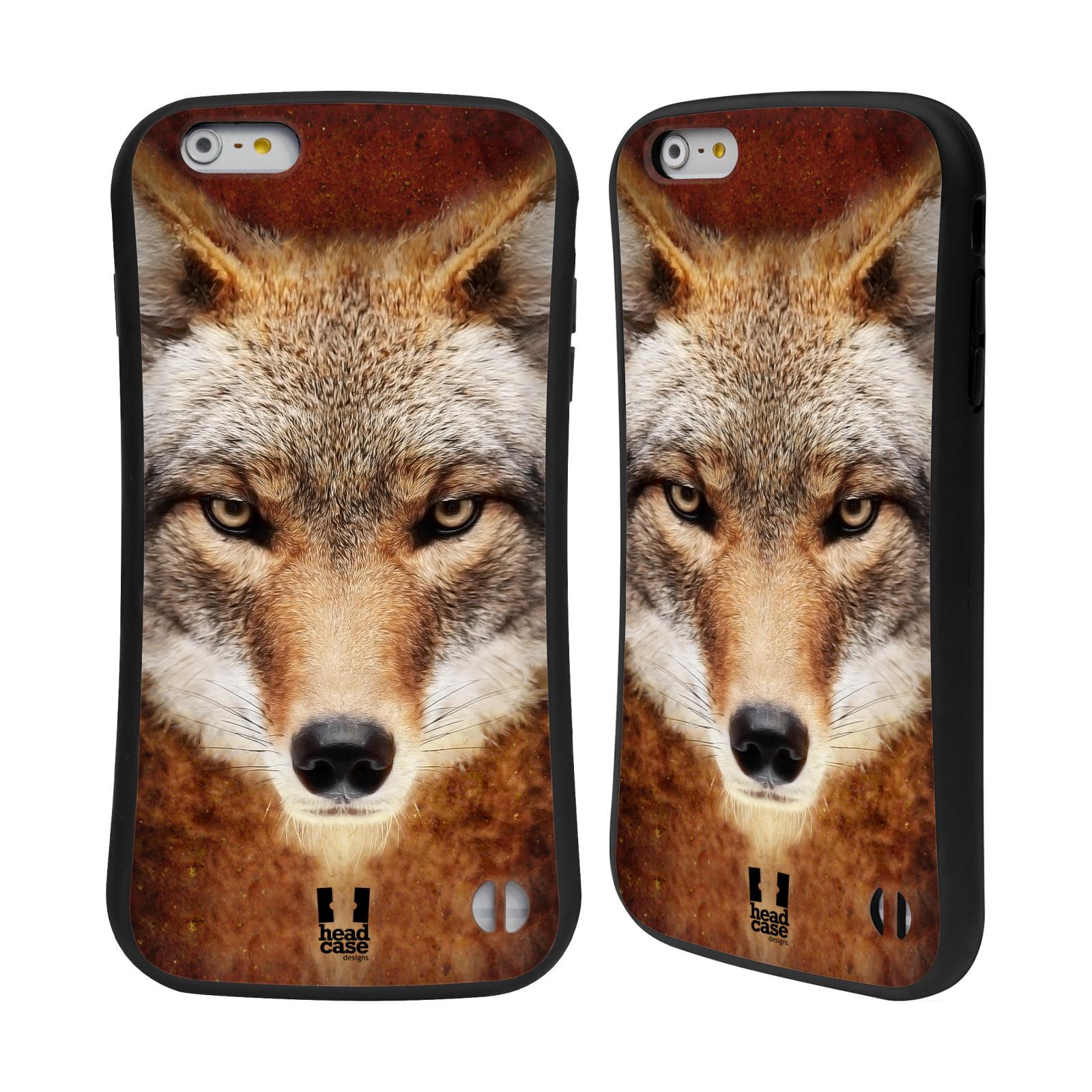 HEAD CASE silikon/plast odolný obal na mobil Apple Iphone 6 PLUS / 6S PLUS vzor Zvířecí tváře kojot