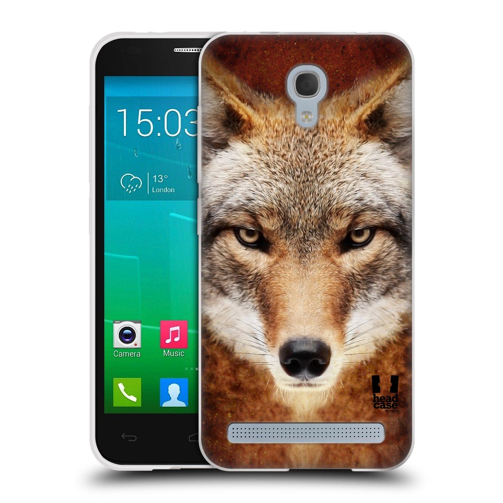 HEAD CASE silikonový obal na mobil Alcatel Idol 2 MINI S 6036Y vzor Zvířecí tváře kojot
