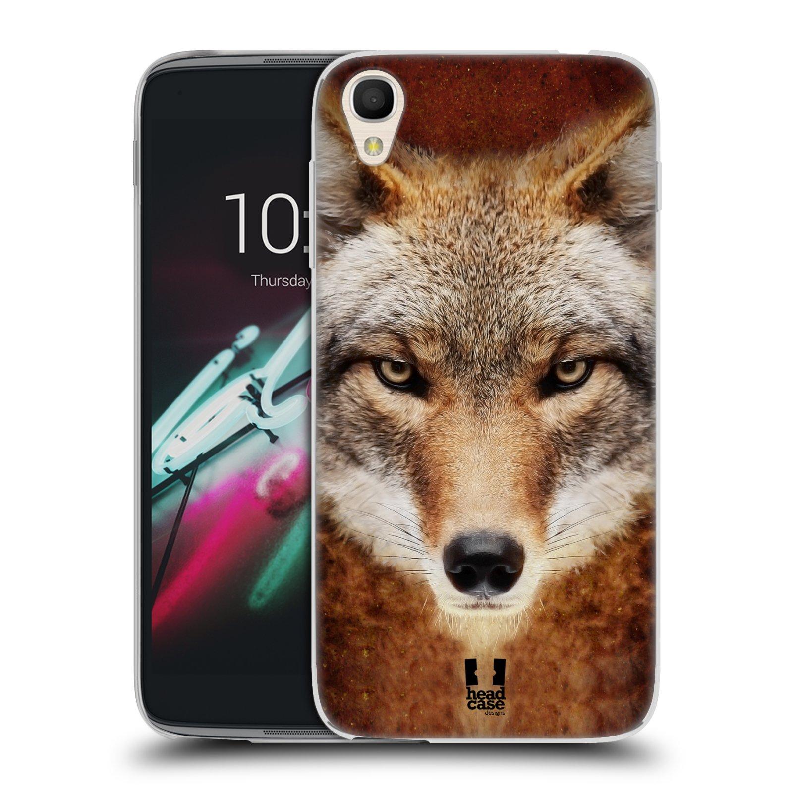 HEAD CASE silikonový obal na mobil Alcatel Idol 3 OT-6039Y (4.7) vzor Zvířecí tváře kojot