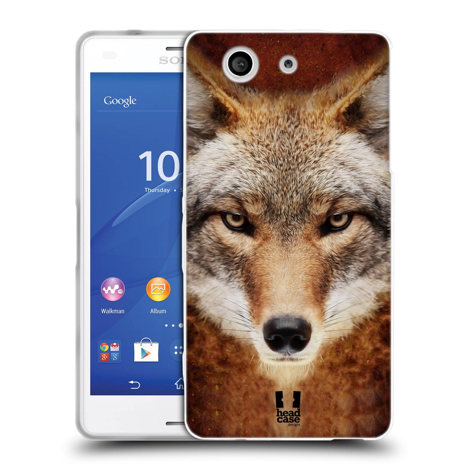 HEAD CASE silikonový obal na mobil Sony Xperia Z3 COMPACT (D5803) vzor Zvířecí tváře kojot