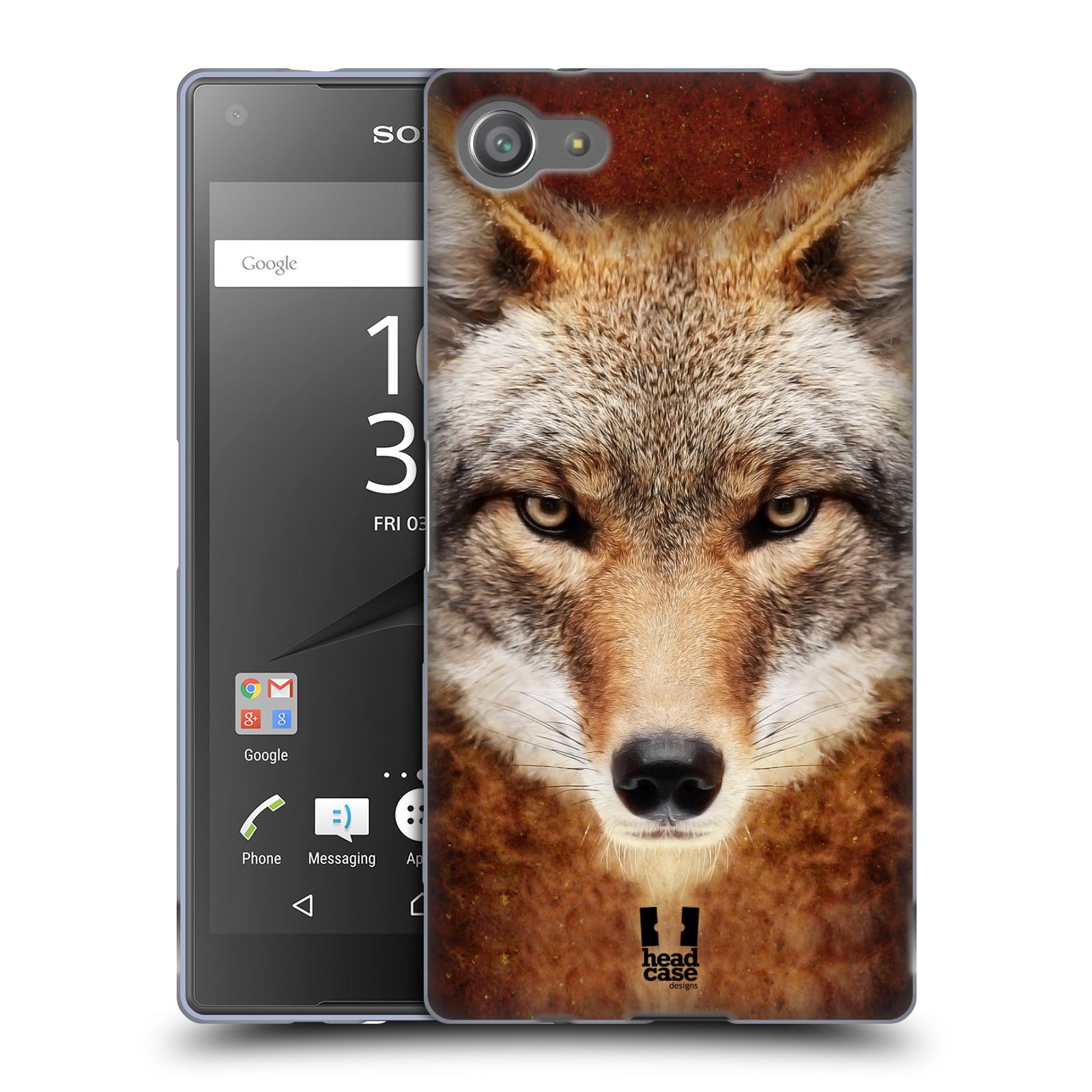 HEAD CASE silikonový obal na mobil Sony Xperia Z5 COMPACT vzor Zvířecí tváře kojot