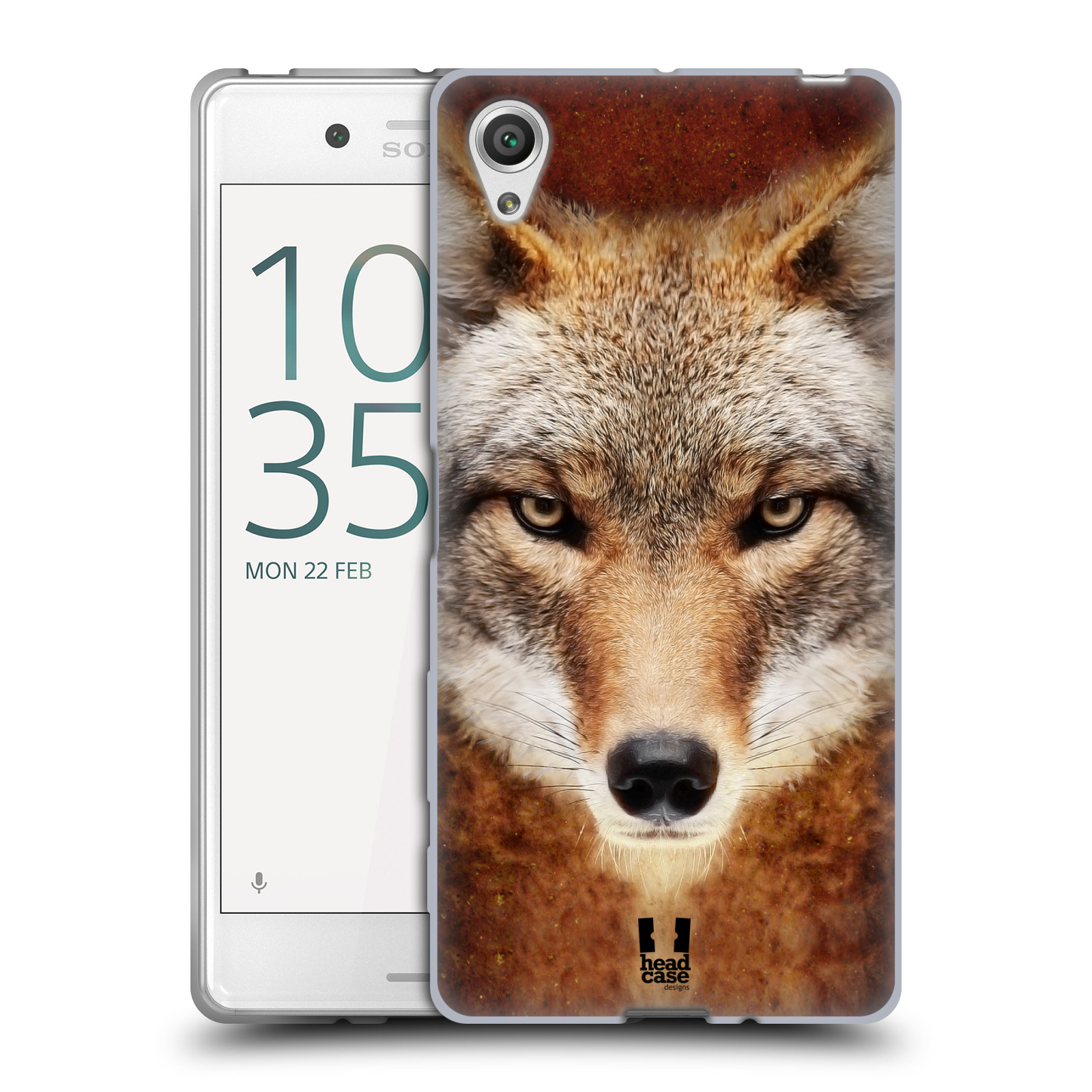 HEAD CASE silikonový obal na mobil Sony Xperia X / X DUAL vzor Zvířecí tváře kojot