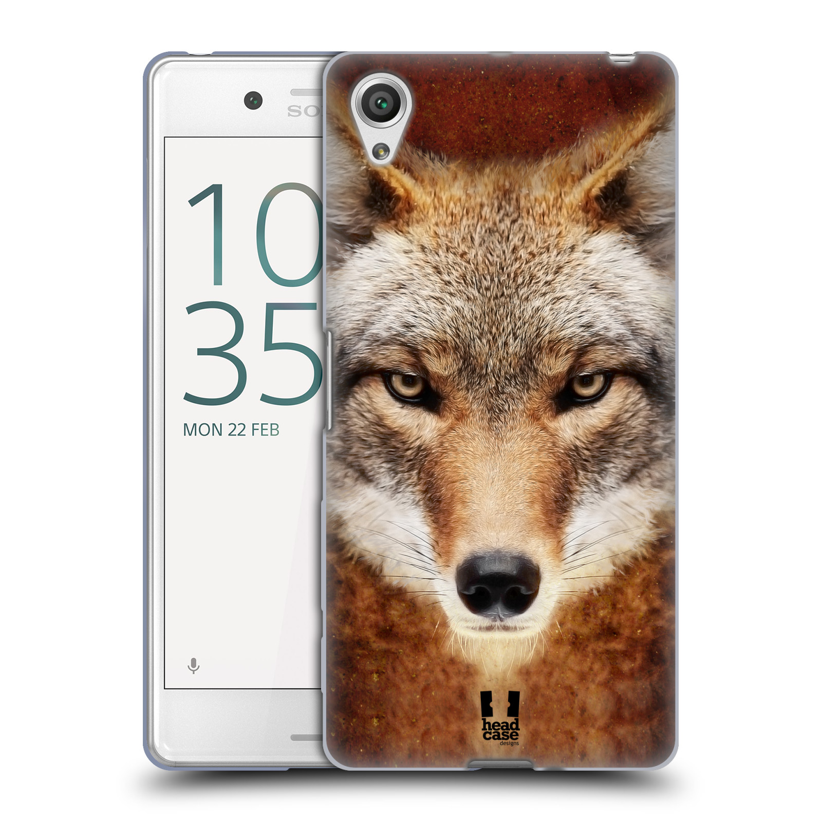 HEAD CASE silikonový obal na mobil Sony Xperia X PERFORMANCE (F8131, F8132) vzor Zvířecí tváře kojot