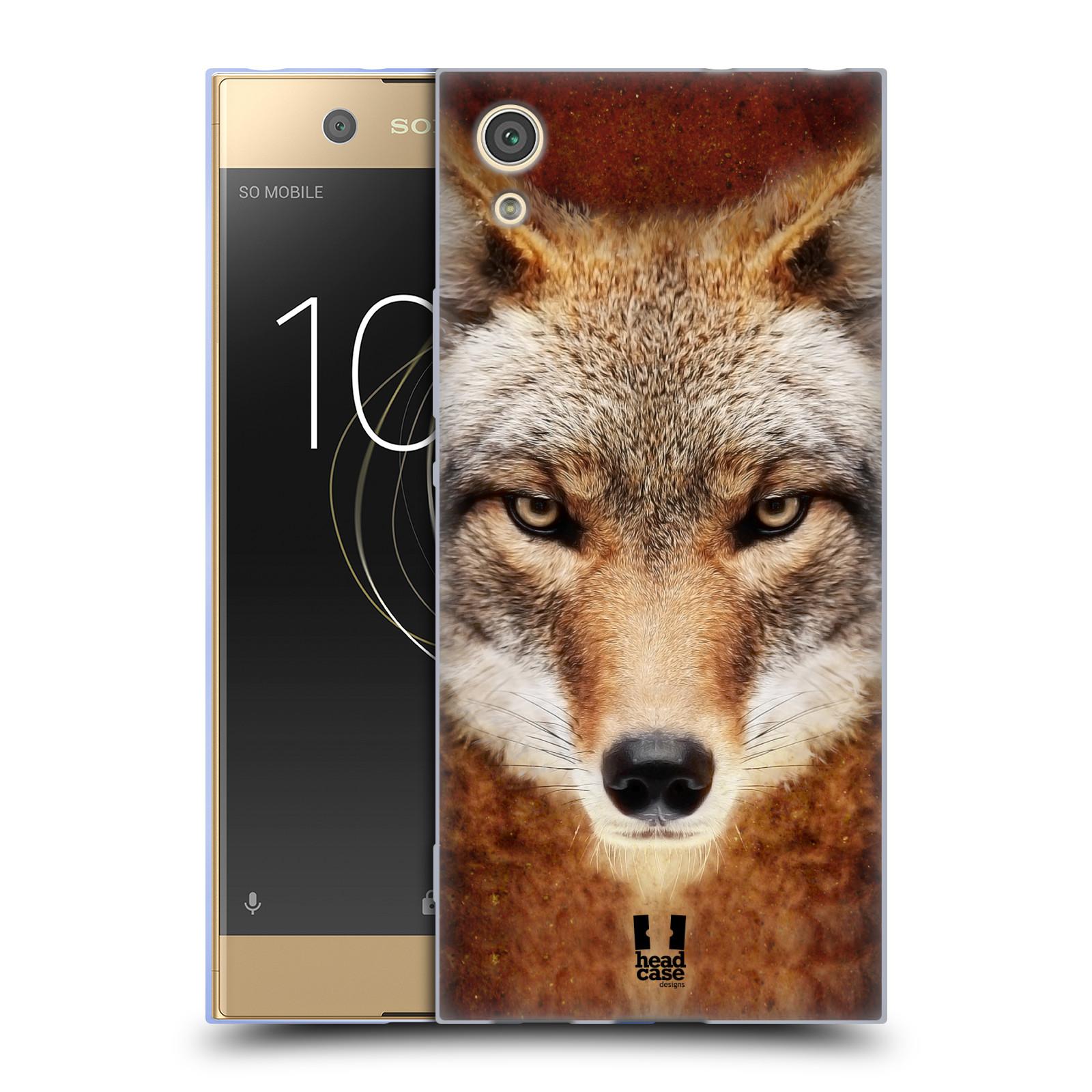 HEAD CASE silikonový obal na mobil Sony Xperia XA1 / XA1 DUAL SIM vzor Zvířecí tváře kojot