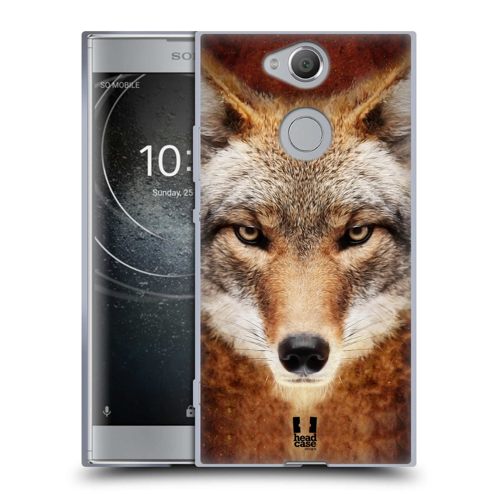 Pouzdro na mobil Sony Xperia XA2 (DUAL SIM, SINGLE SIM) vzor Zvířecí tváře kojot