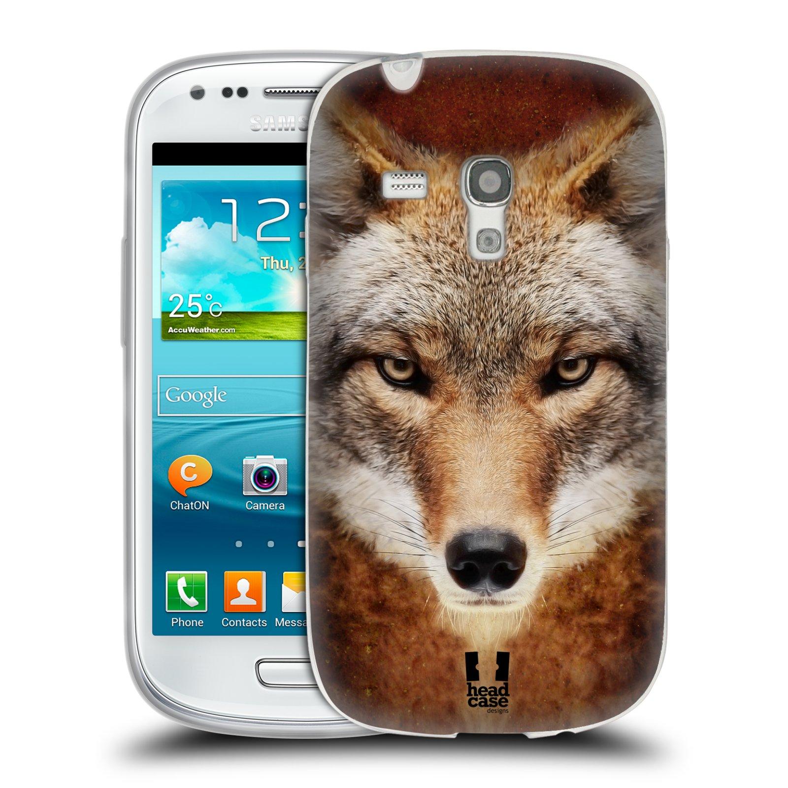 HEAD CASE silikonový obal na mobil Samsung Galaxy S3 MINI i8190 vzor Zvířecí tváře kojot