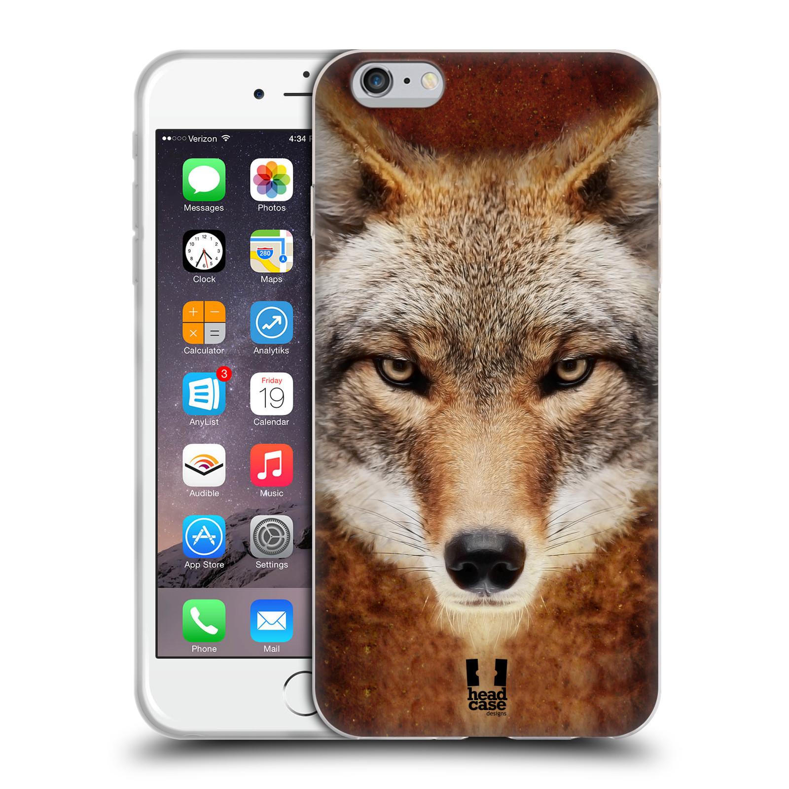HEAD CASE silikonový obal na mobil Apple Iphone 6 PLUS/ 6S PLUS vzor Zvířecí tváře kojot