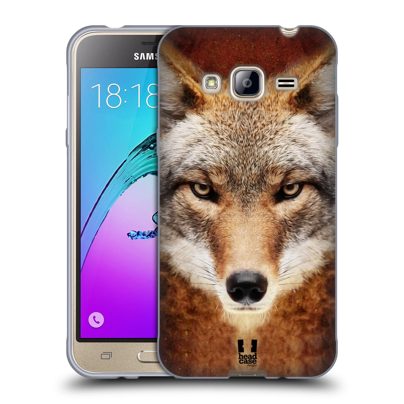 HEAD CASE silikonový obal na mobil Samsung Galaxy J3, J3 2016 vzor Zvířecí tváře kojot