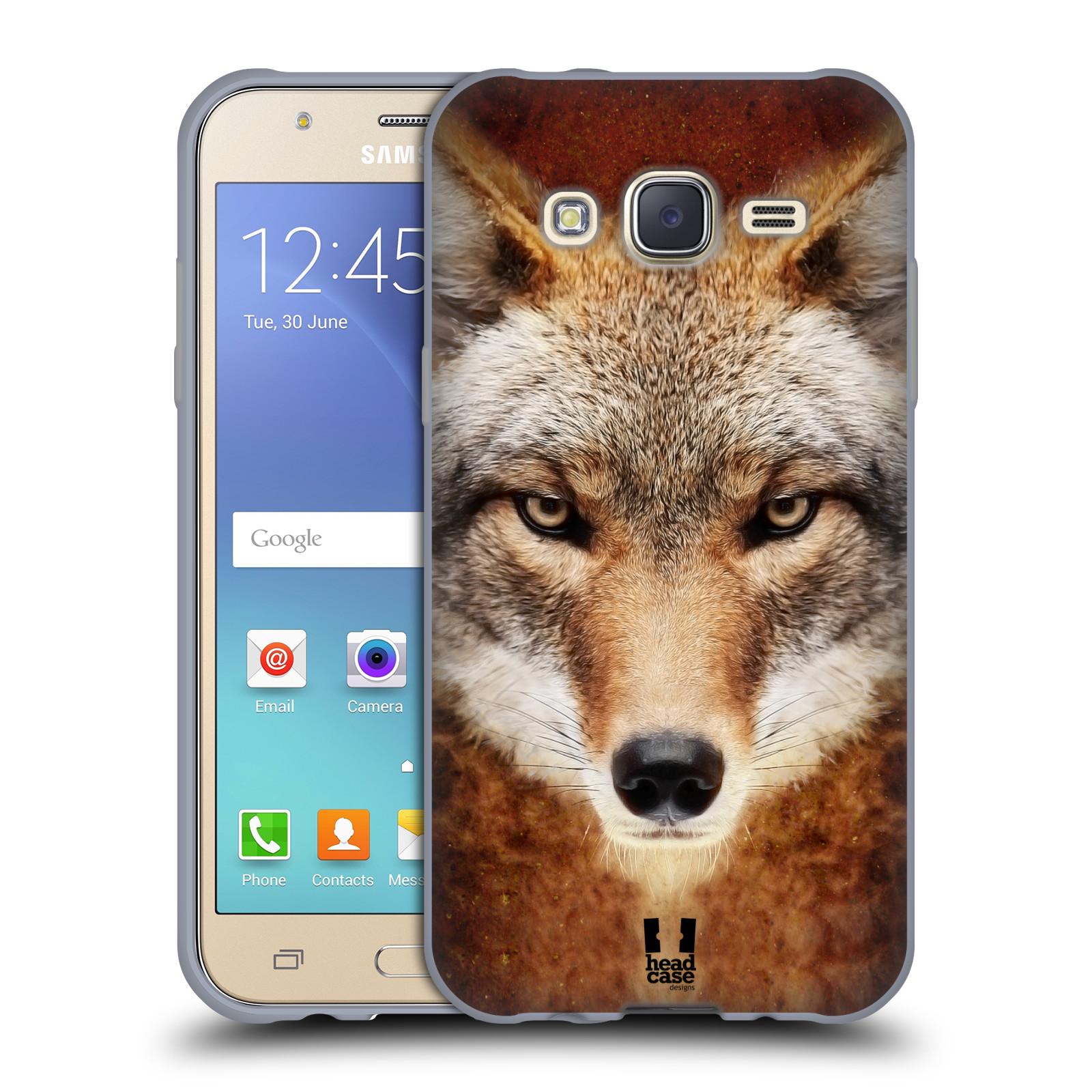 HEAD CASE silikonový obal na mobil Samsung Galaxy J5, J500, (J5 DUOS) vzor Zvířecí tváře kojot