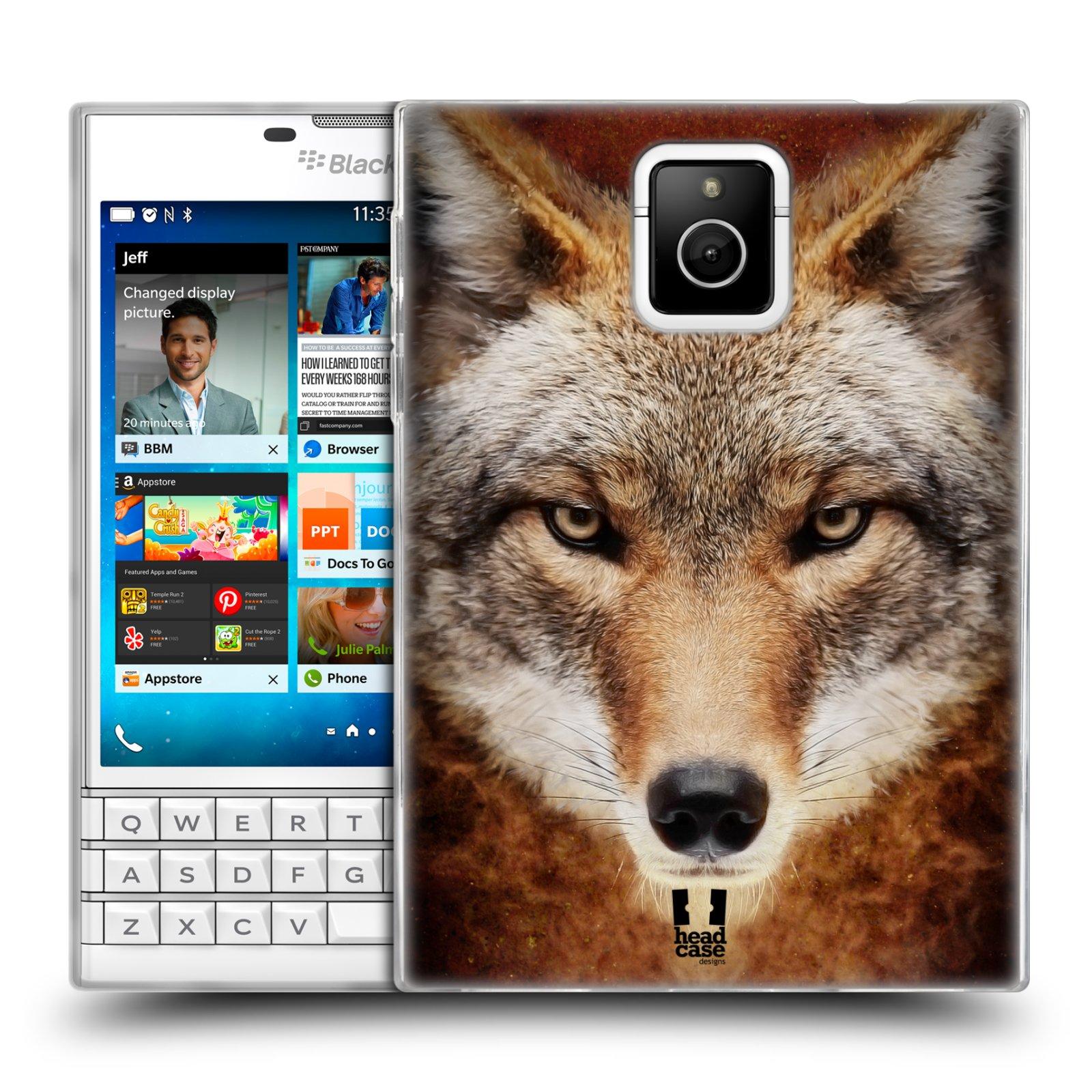 HEAD CASE silikonový obal na mobil Blackberry PASSPORT vzor Zvířecí tváře kojot
