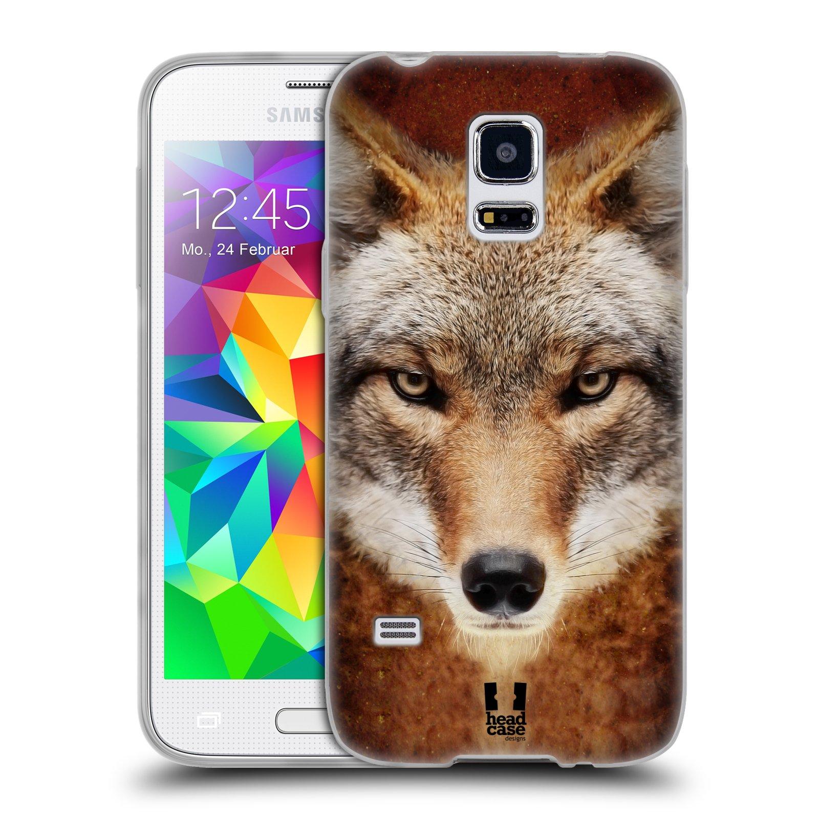 HEAD CASE silikonový obal na mobil Samsung Galaxy S5 MINI vzor Zvířecí tváře kojot
