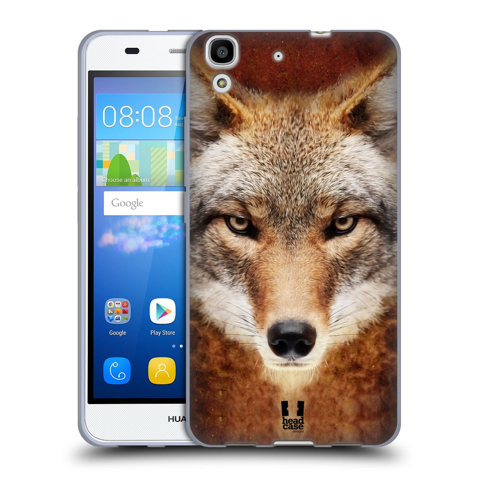 HEAD CASE silikonový obal na mobil HUAWEI Y6 vzor Zvířecí tváře kojot