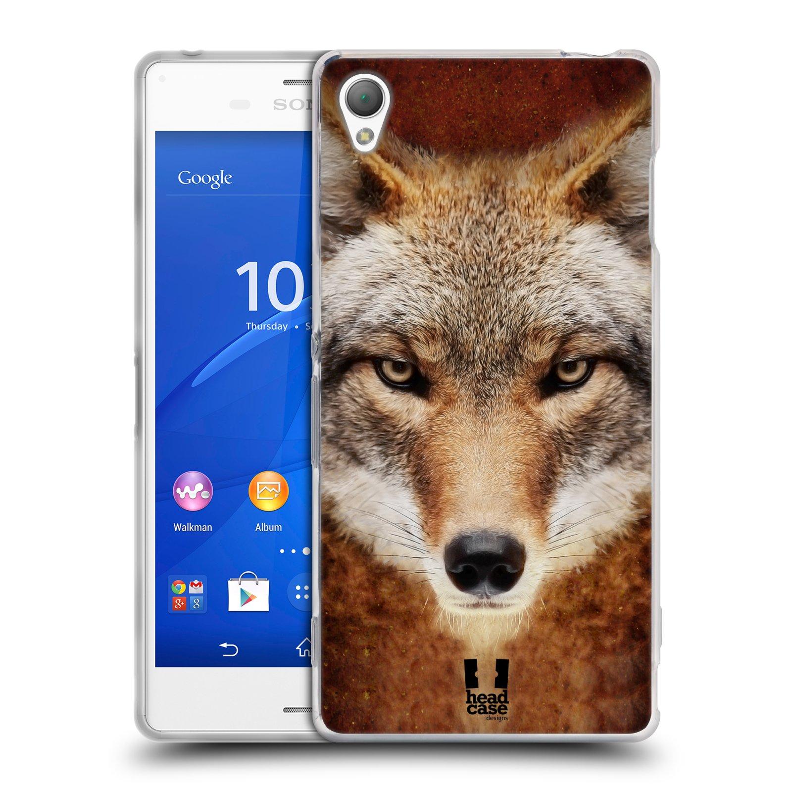 HEAD CASE silikonový obal na mobil Sony Xperia Z3 vzor Zvířecí tváře kojot