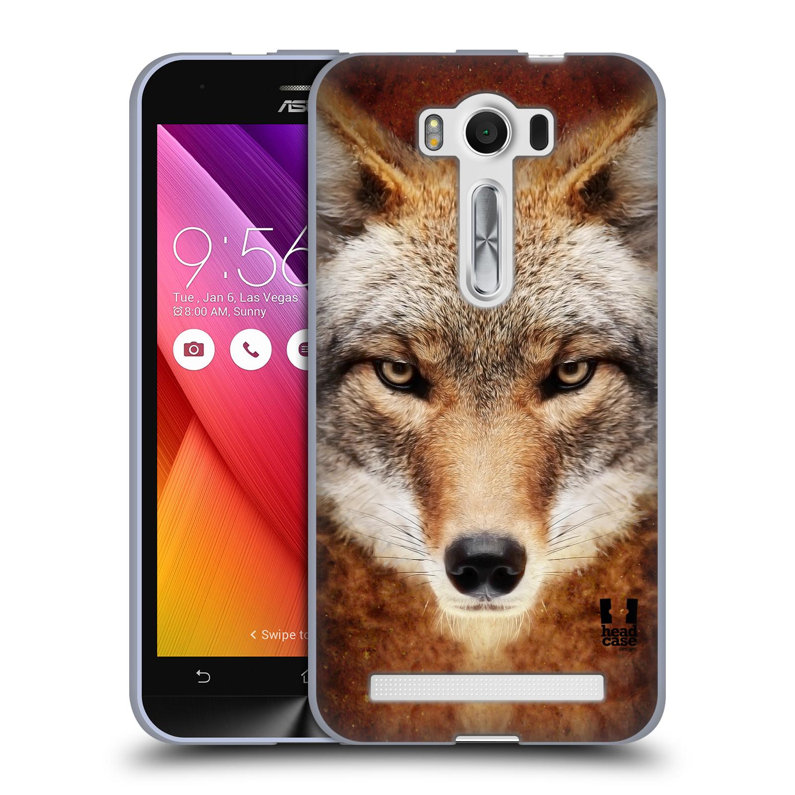 """HEAD CASE silikonový obal na mobil Asus Zenfone 2 LASER (ZE500KL s 5"""" displejem) vzor Zvířecí tváře kojot"""