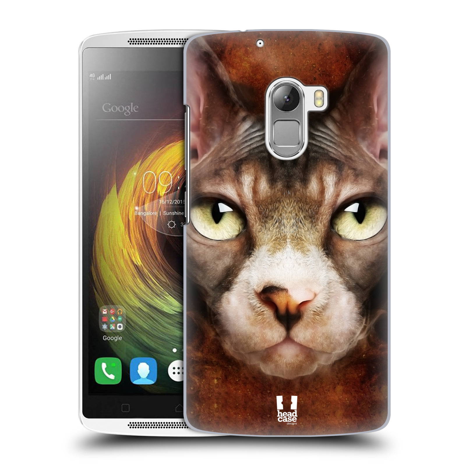 HEAD CASE pevný plastový obal na mobil LENOVO A7010 / A7010 DUAL / K4 Note / Vibe X3 lite vzor Zvířecí tváře kočka sphynx