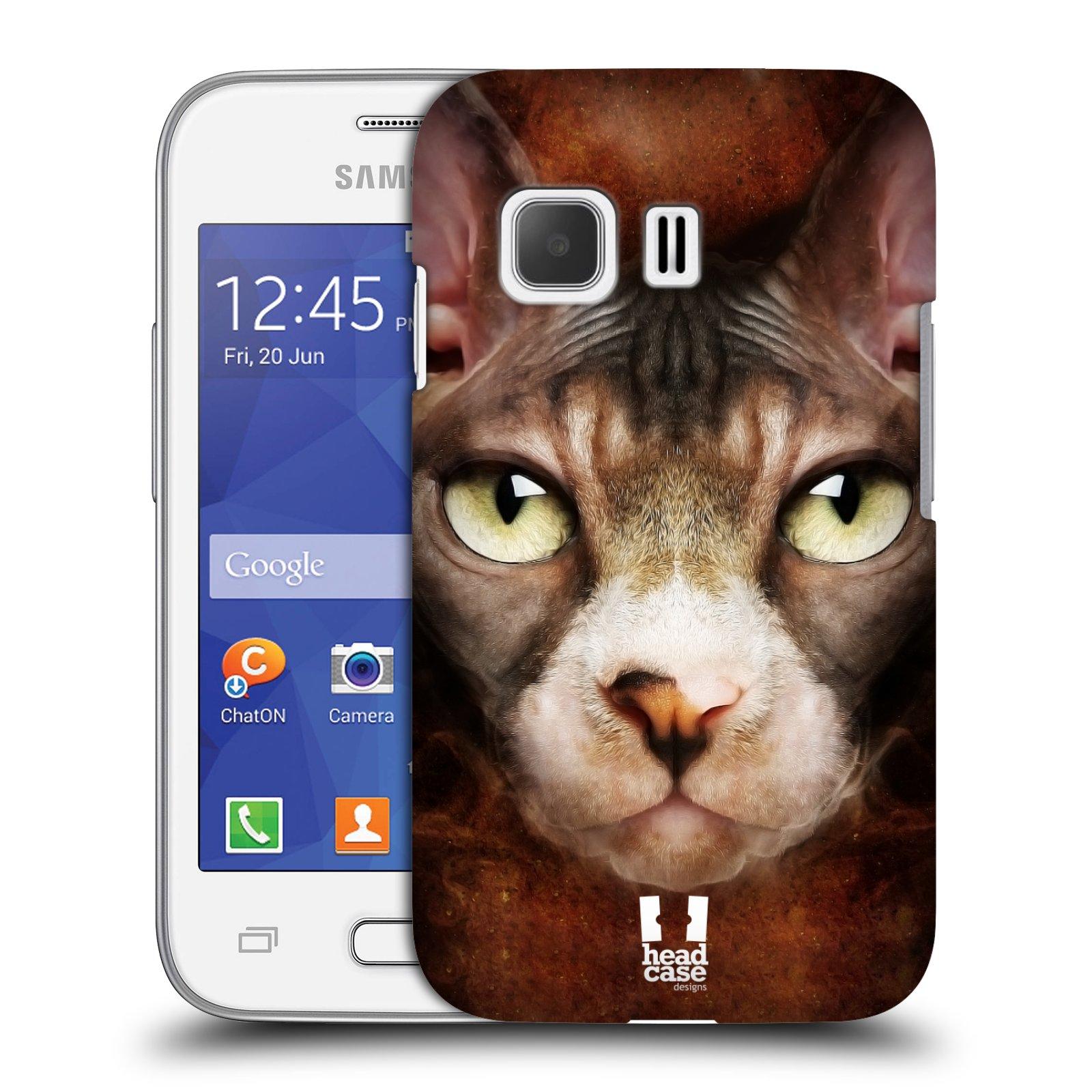 HEAD CASE plastový obal na mobil SAMSUNG Galaxy Young 2 (G130) vzor Zvířecí tváře kočka sphynx