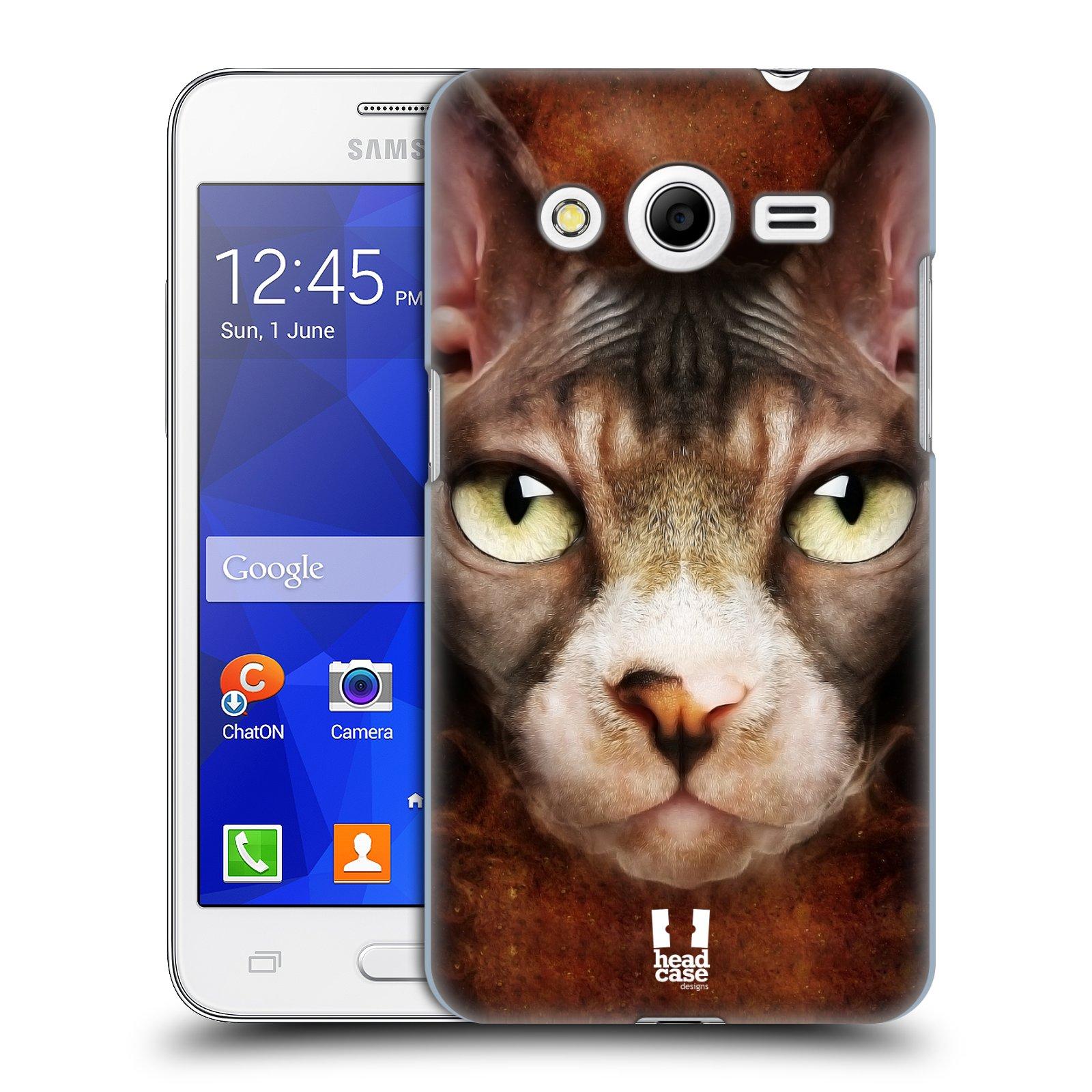 HEAD CASE plastový obal na mobil SAMSUNG GALAXY Core 2 (G355H) vzor Zvířecí tváře kočka sphynx