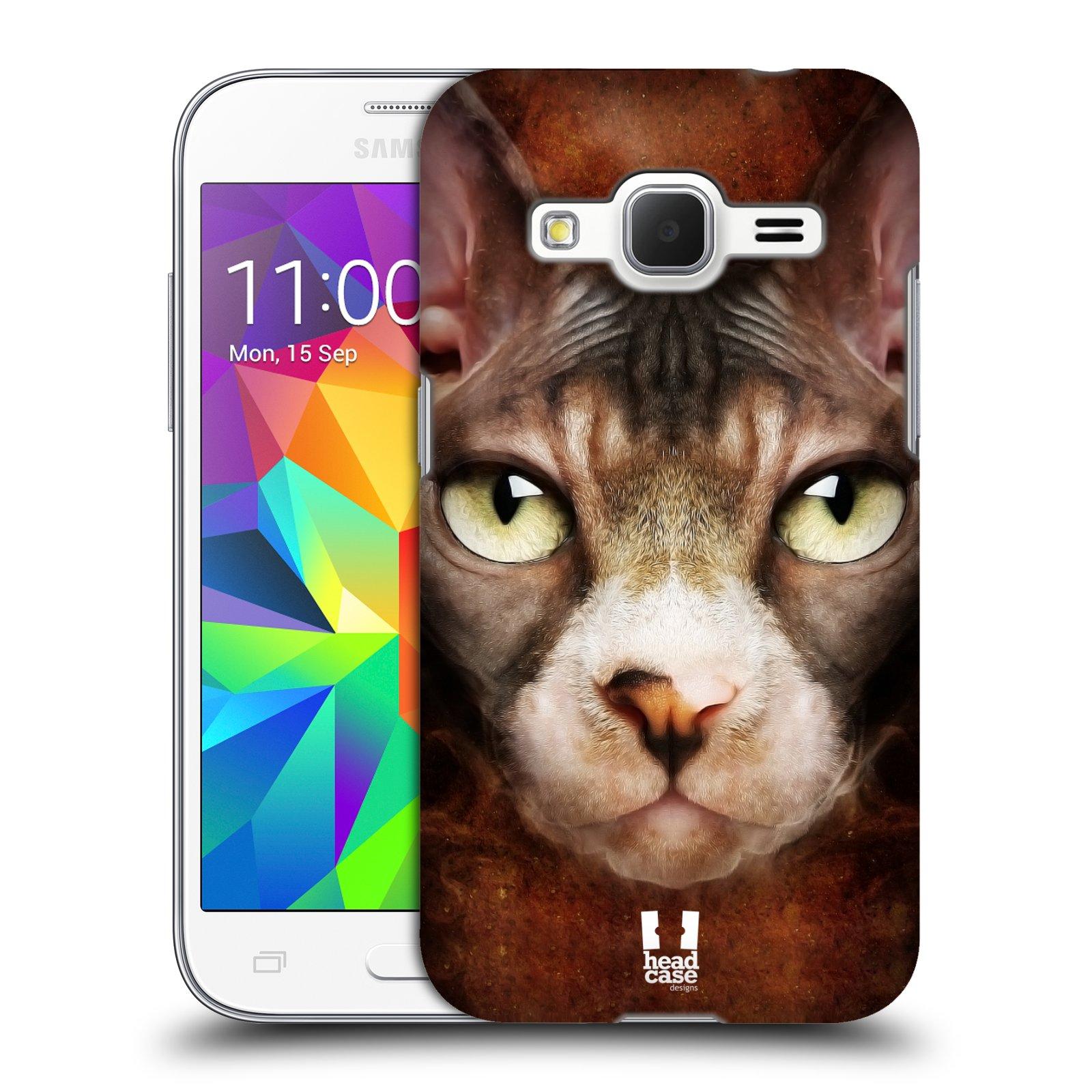 HEAD CASE plastový obal na mobil SAMSUNG GALAXY Core Prime (Core Prime VE) vzor Zvířecí tváře kočka sphynx
