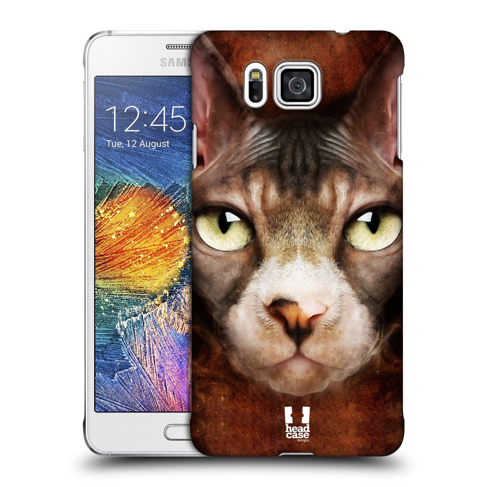 HEAD CASE plastový obal na mobil SAMSUNG Galaxy Alpha (G850) vzor Zvířecí tváře kočka sphynx
