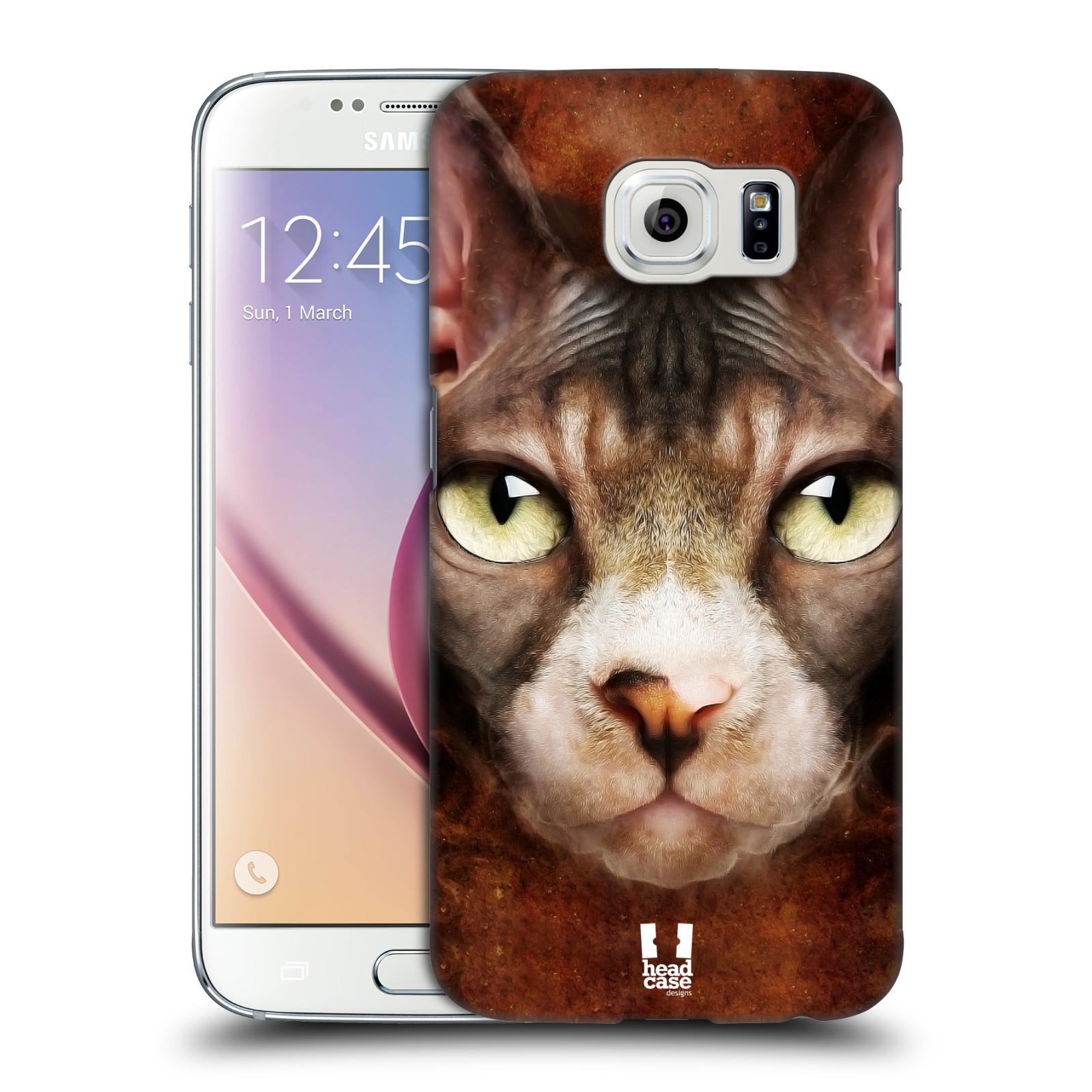 HEAD CASE plastový obal na mobil SAMSUNG Galaxy S6 (G9200, G920F) vzor Zvířecí tváře kočka sphynx