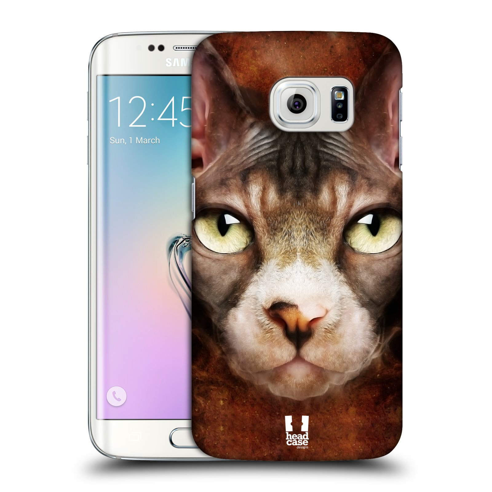 HEAD CASE plastový obal na mobil SAMSUNG Galaxy S6 EDGE (G9250, G925, G925F) vzor Zvířecí tváře kočka sphynx