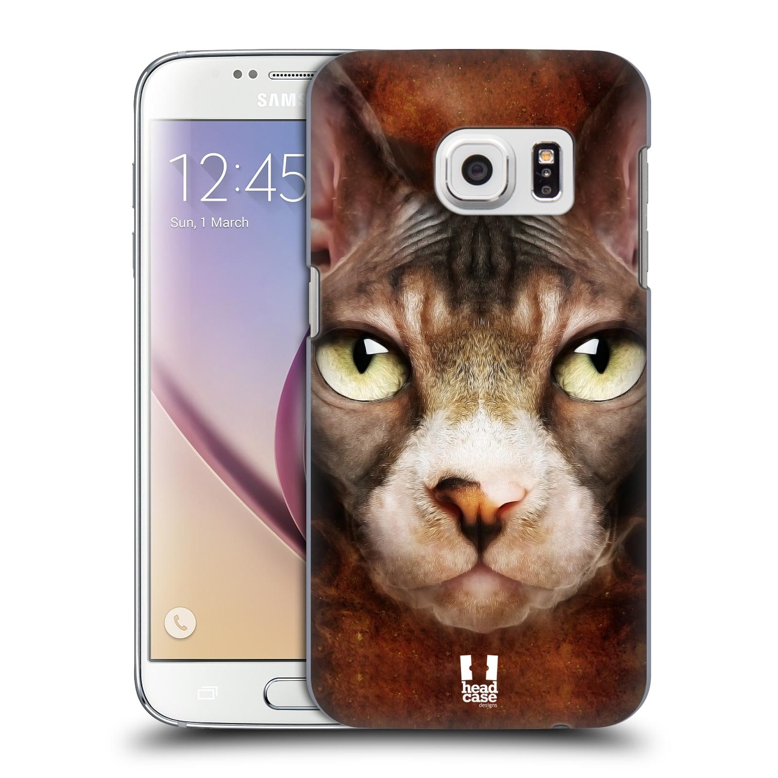 HEAD CASE plastový obal na mobil SAMSUNG GALAXY S7 vzor Zvířecí tváře kočka sphynx