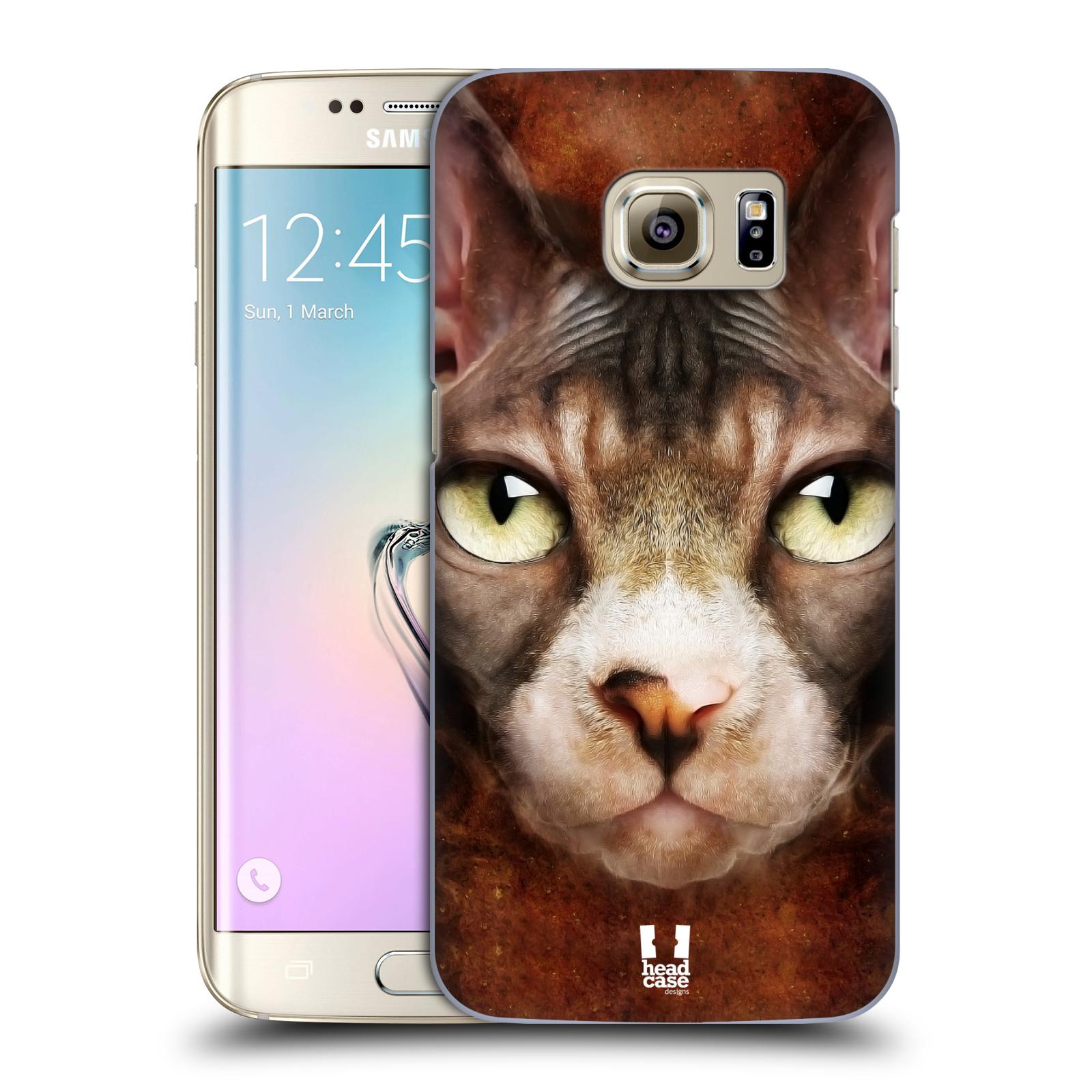 HEAD CASE plastový obal na mobil SAMSUNG GALAXY S7 EDGE vzor Zvířecí tváře kočka sphynx