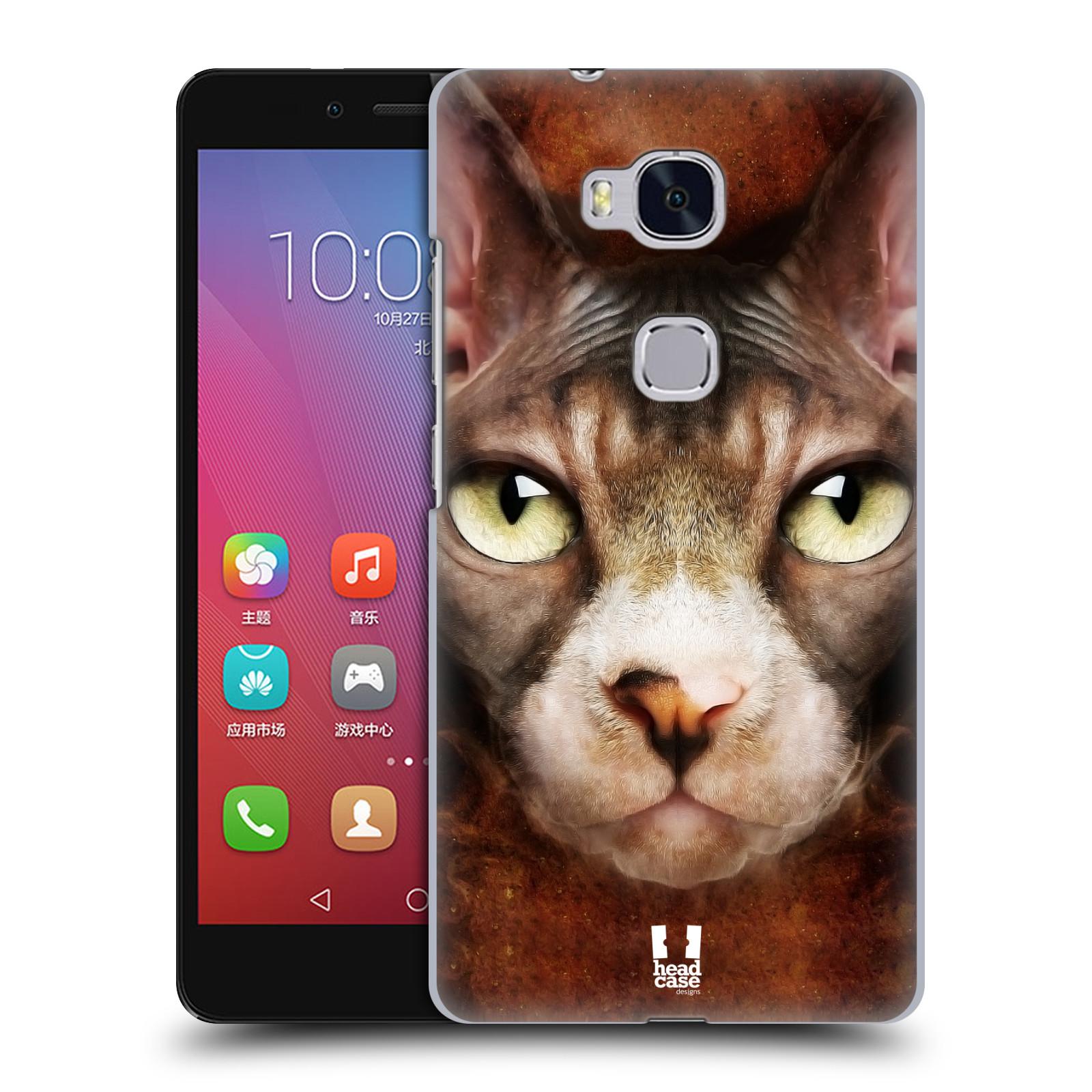 HEAD CASE pevný plastový obal na mobil HUAWEI HONOR 5X vzor Zvířecí tváře kočka sphynx