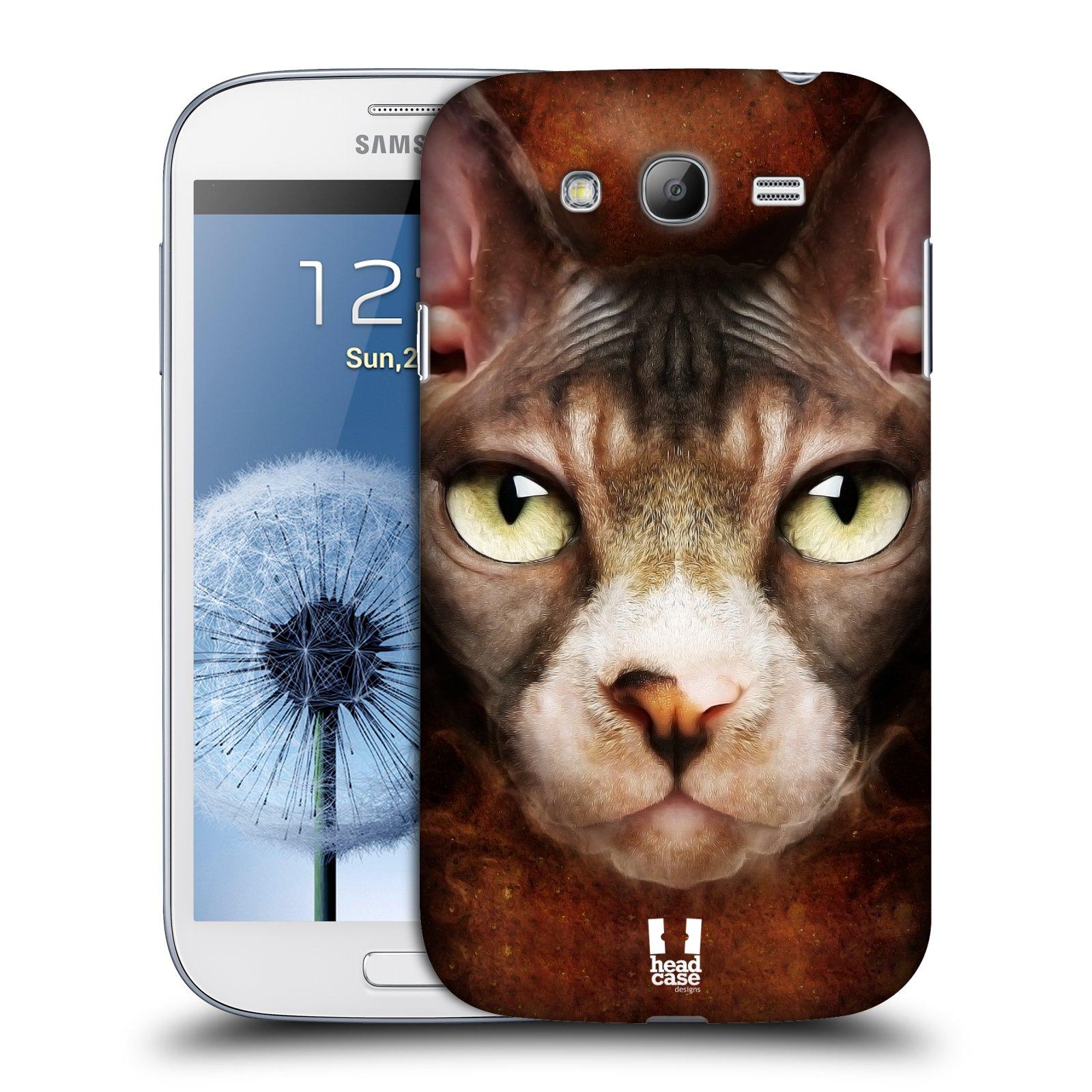 HEAD CASE plastový obal na mobil SAMSUNG GALAXY Grand i9080 vzor Zvířecí tváře kočka sphynx