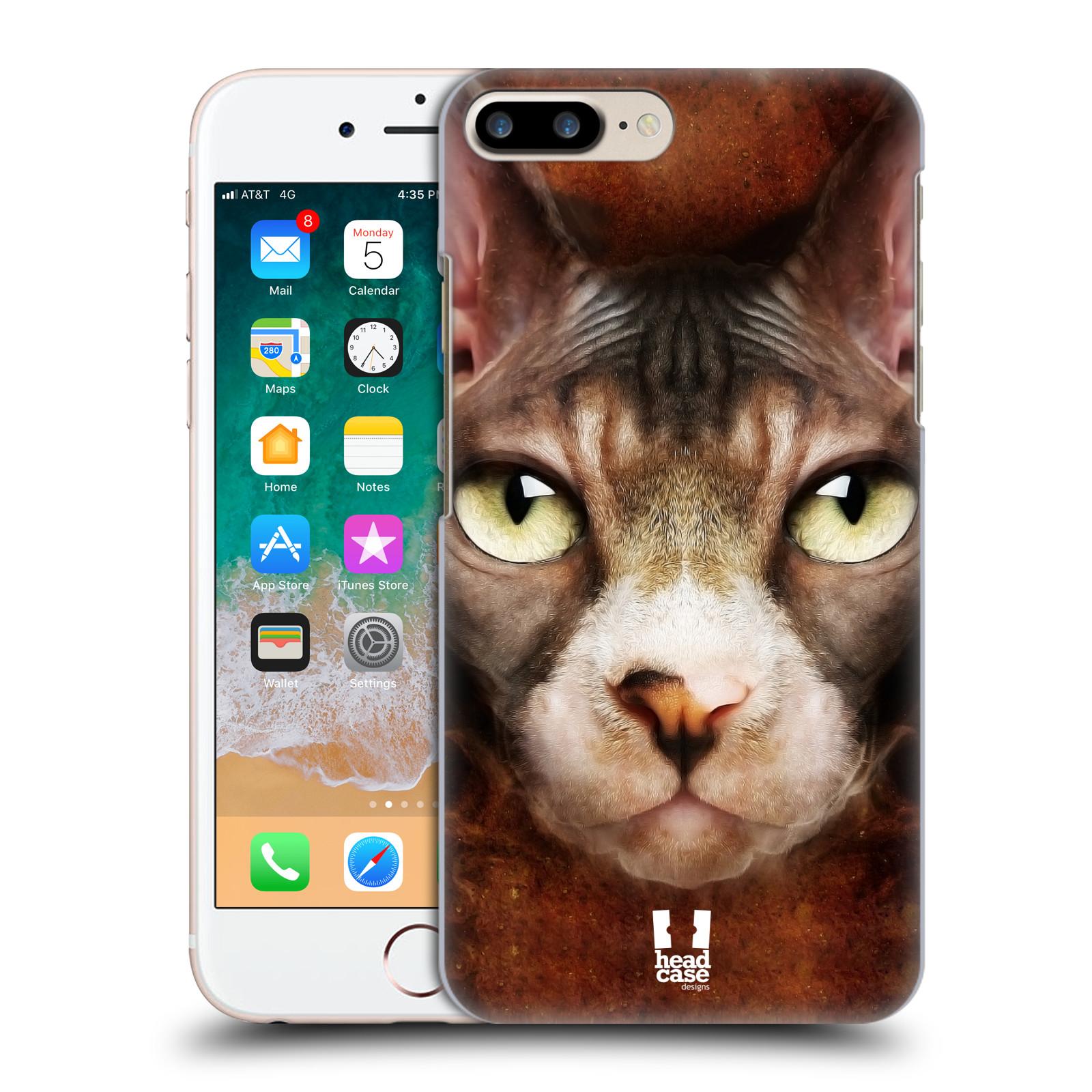 HEAD CASE plastový obal na mobil Apple Iphone 7 PLUS vzor Zvířecí tváře kočka sphynx