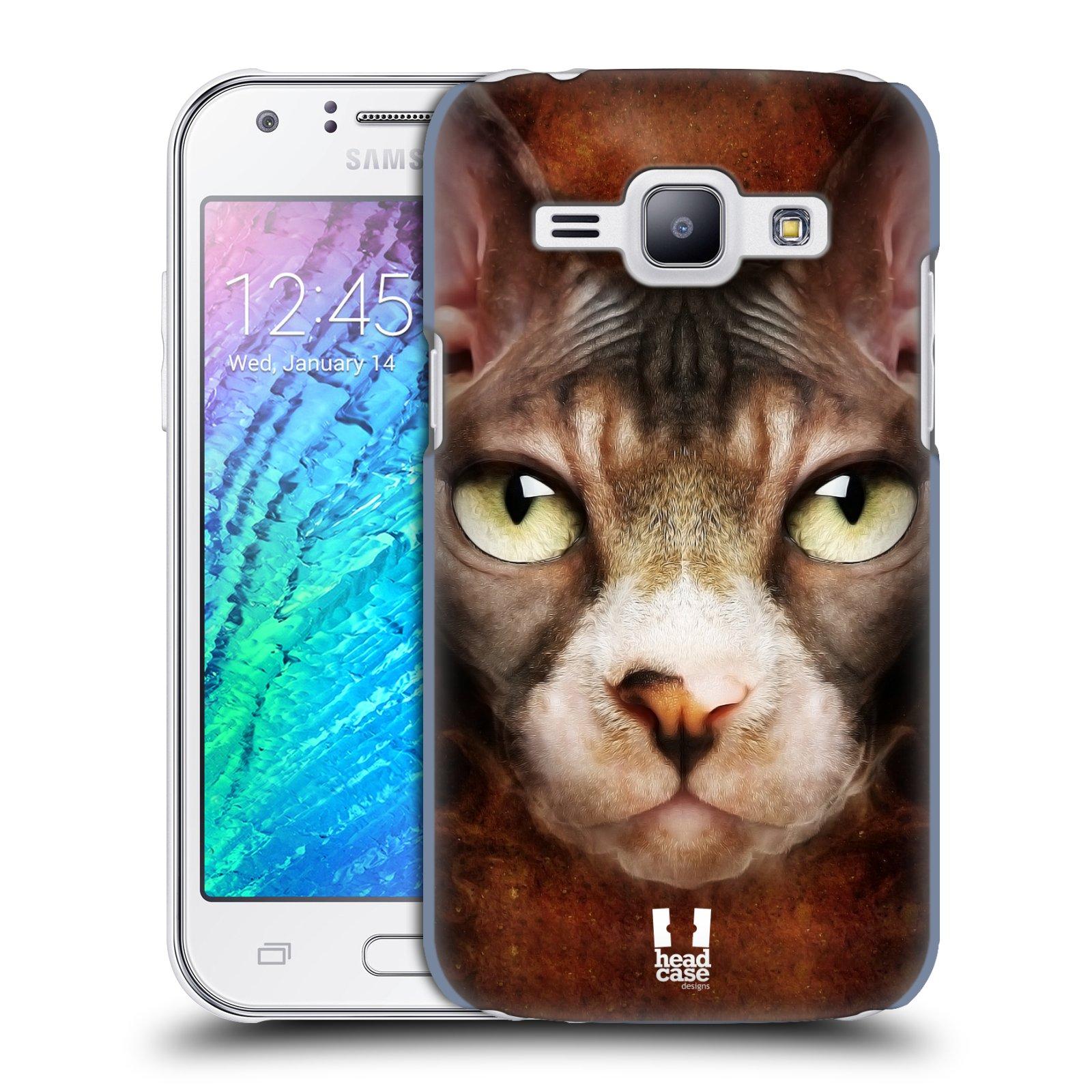 HEAD CASE plastový obal na mobil SAMSUNG Galaxy J1, J100 vzor Zvířecí tváře kočka sphynx
