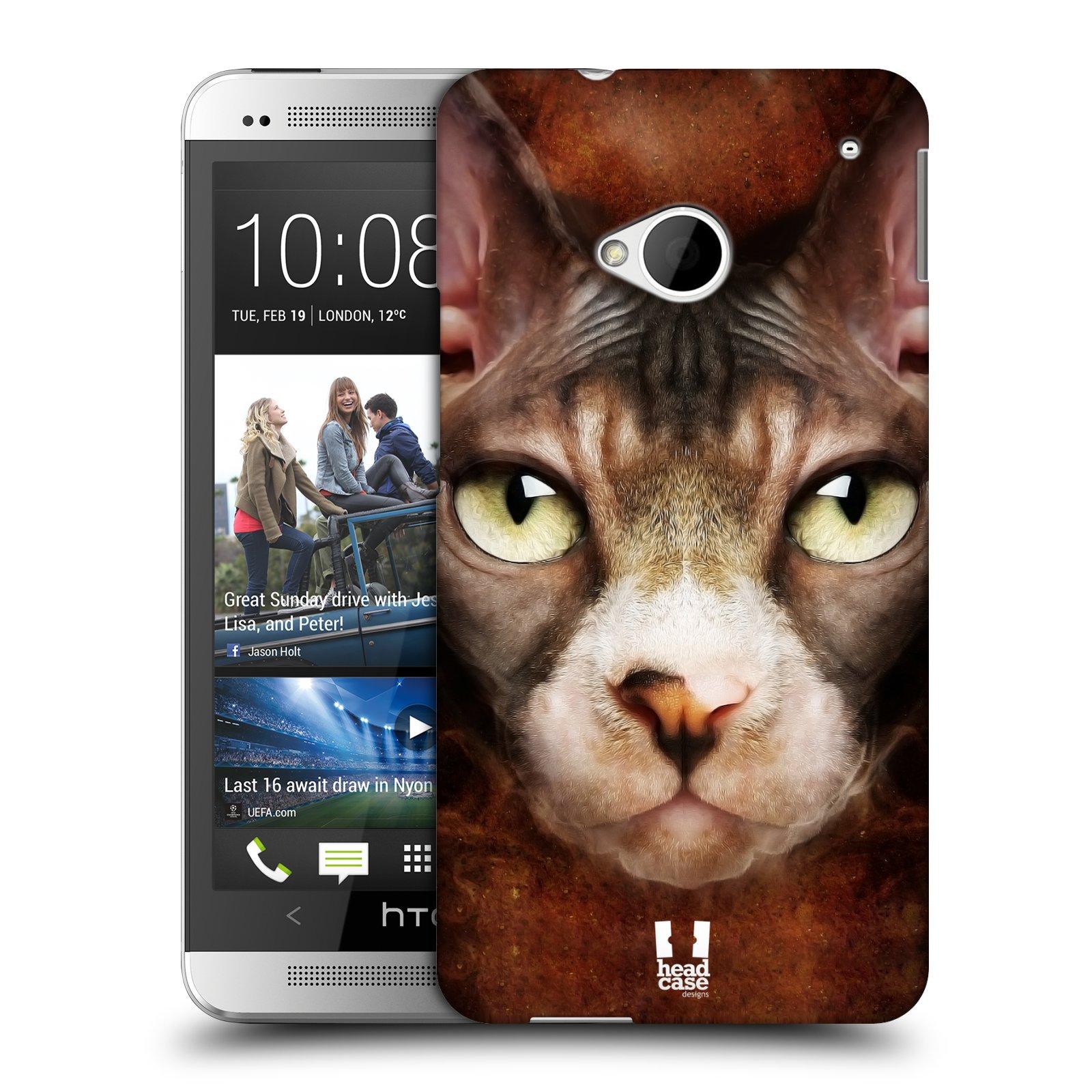 HEAD CASE plastový obal na mobil HTC One (M7) vzor Zvířecí tváře kočka sphynx