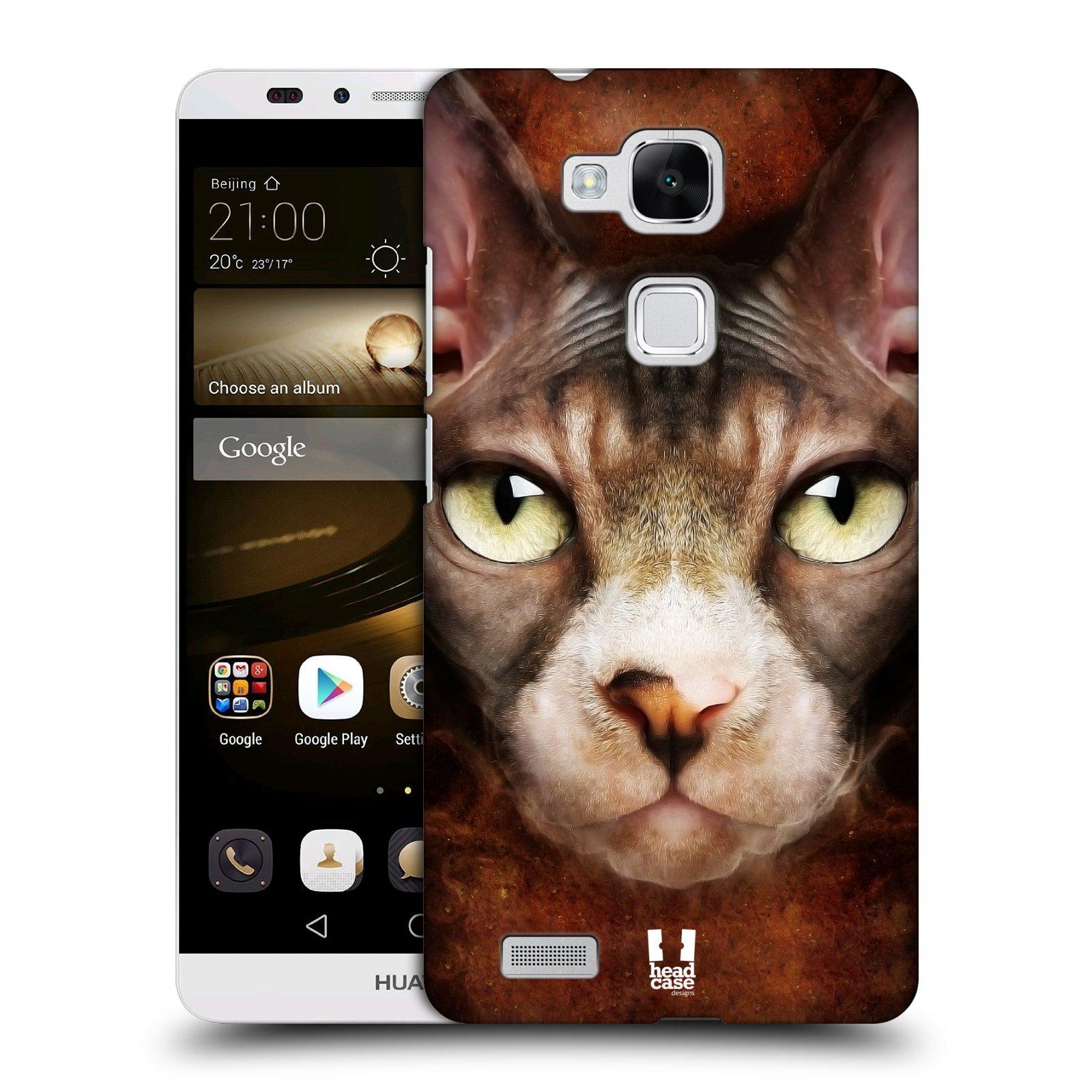HEAD CASE plastový obal na mobil Huawei Mate 7 vzor Zvířecí tváře kočka sphynx