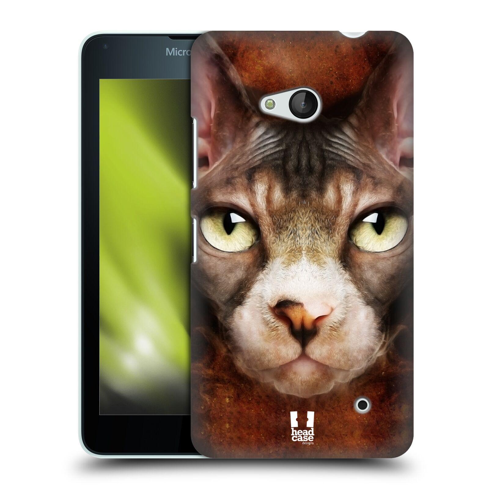 HEAD CASE plastový obal na mobil Nokia Lumia 640 vzor Zvířecí tváře kočka sphynx