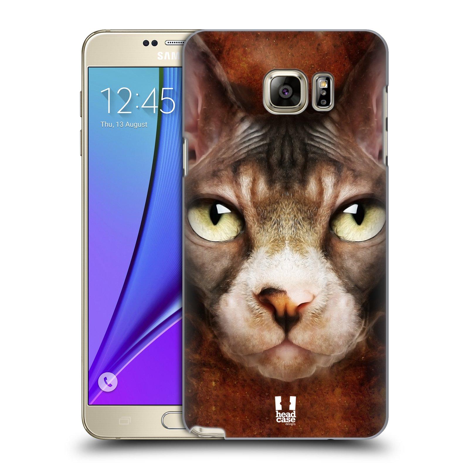 HEAD CASE plastový obal na mobil SAMSUNG Galaxy Note 5 (N920) vzor Zvířecí tváře kočka sphynx