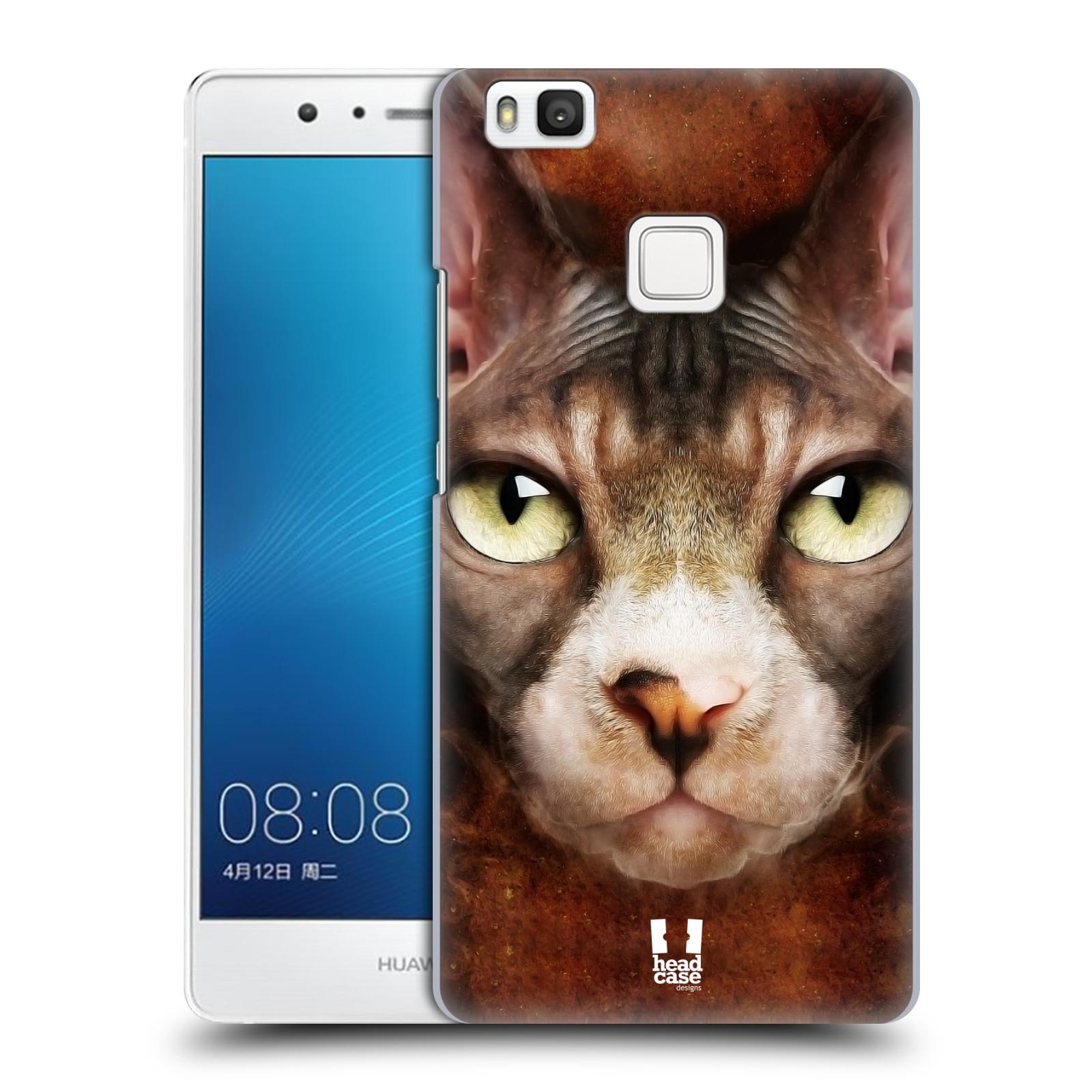 HEAD CASE plastový obal na mobil Huawei P9 LITE / P9 LITE DUAL SIM vzor Zvířecí tváře kočka sphynx