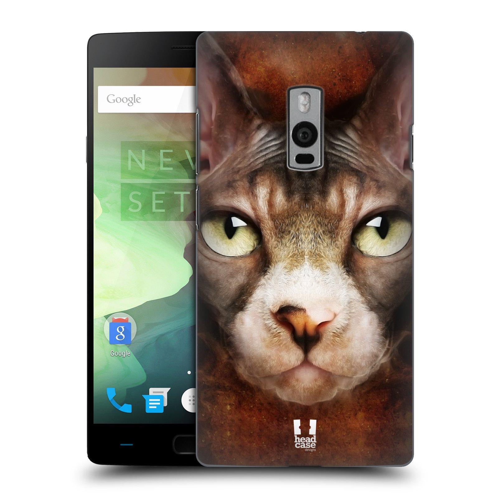 HEAD CASE pevný plastový obal na mobil OnePlus 2  ( TWO ) vzor Zvířecí tváře kočka sphynx
