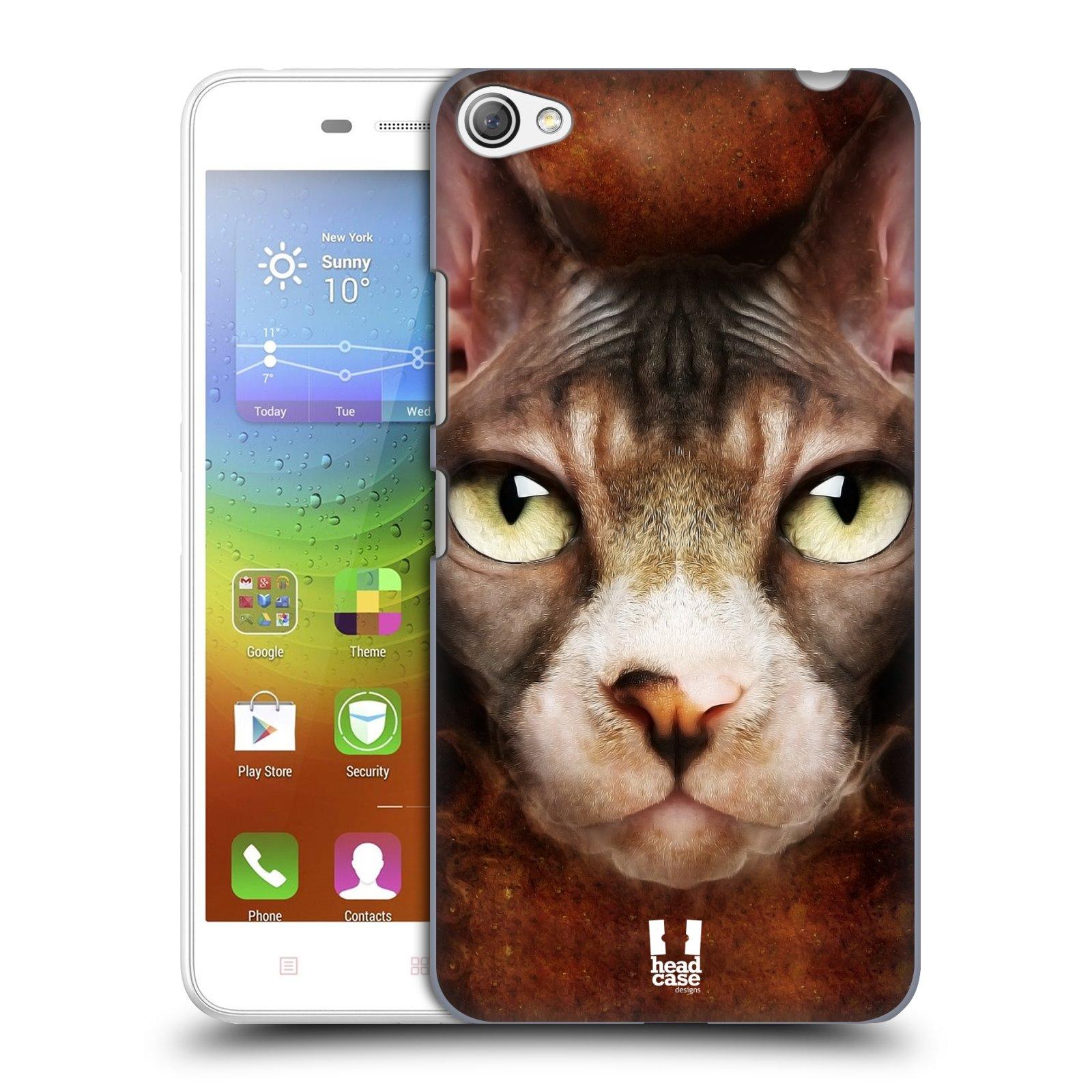 HEAD CASE pevný plastový obal na mobil LENOVO S60 / LENOVO S60 DUAL SIM vzor Zvířecí tváře kočka sphynx
