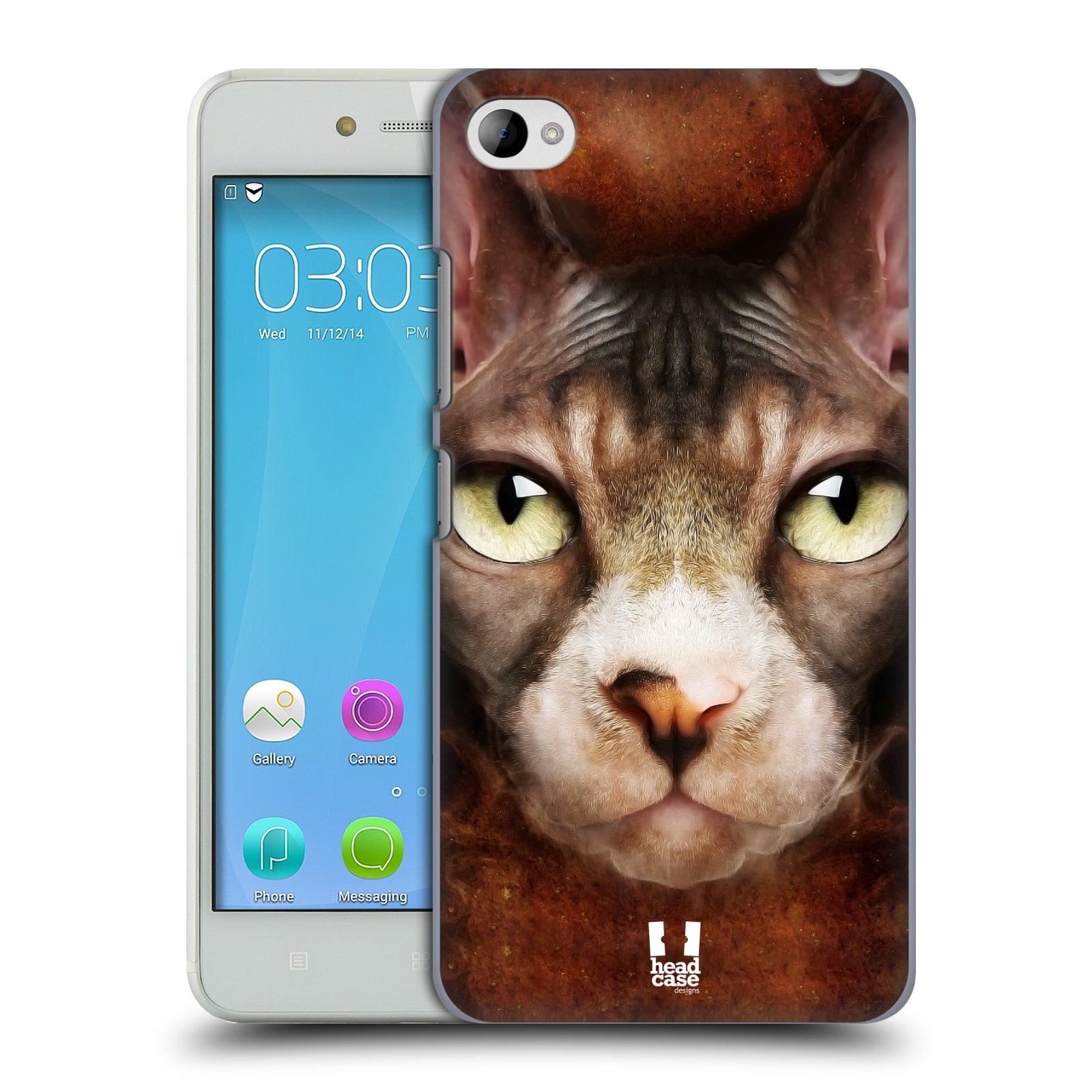 HEAD CASE pevný plastový obal na mobil LENOVO S90 vzor Zvířecí tváře kočka sphynx