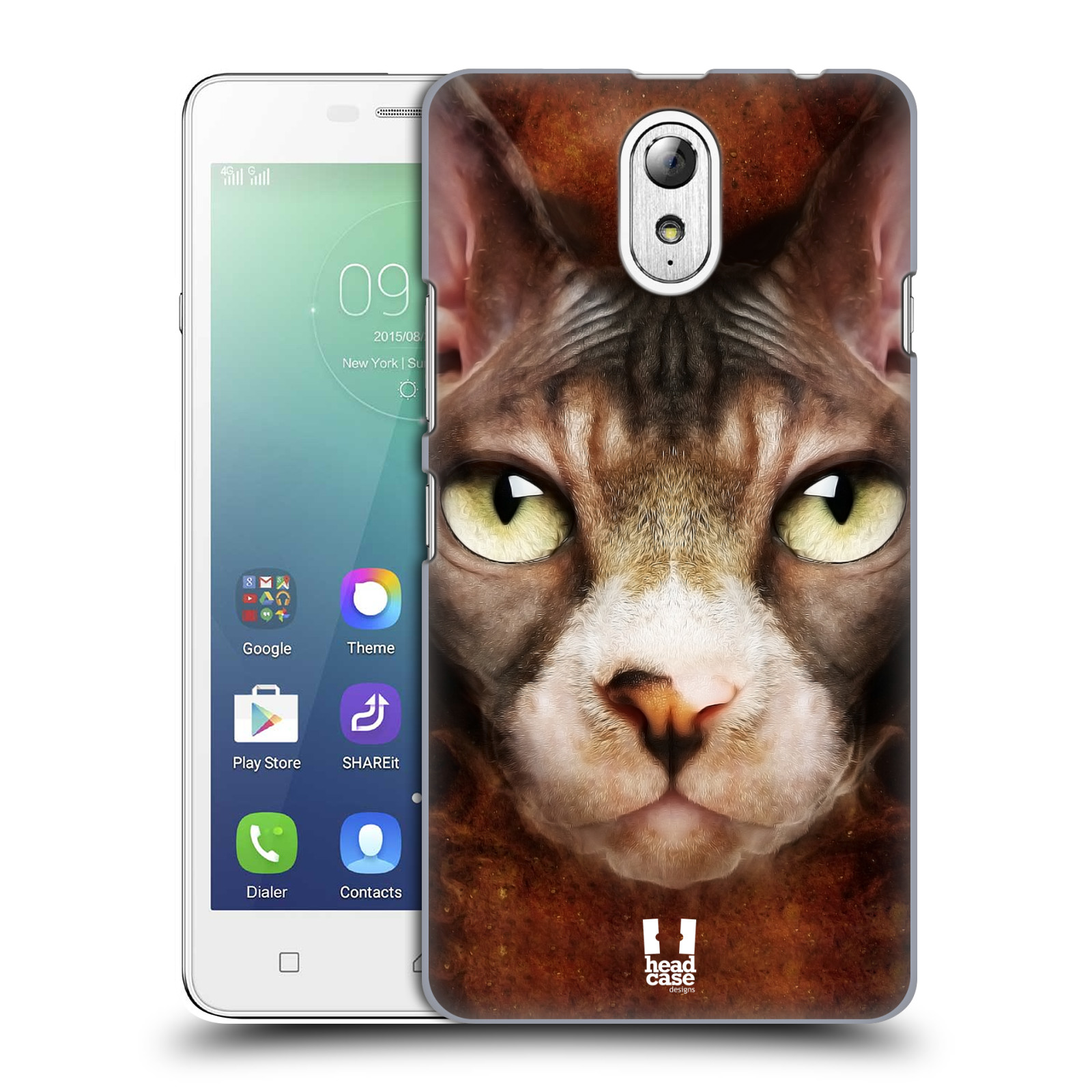 HEAD CASE pevný plastový obal na mobil LENOVO VIBE P1m / LENOVO VIBE p1m DUAL SIM vzor Zvířecí tváře kočka sphynx