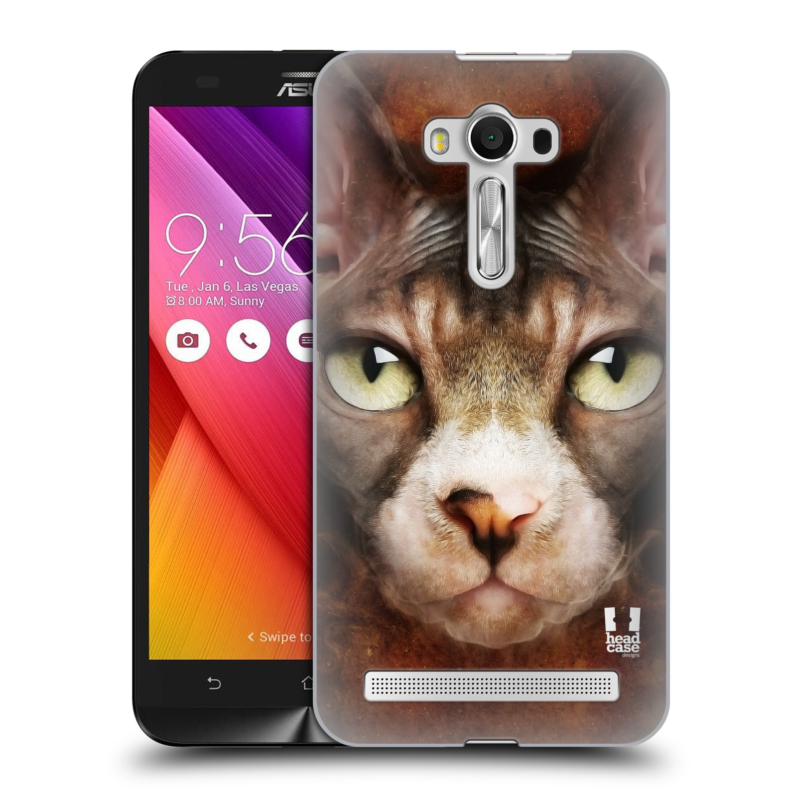 HEAD CASE plastový obal na mobil Asus Zenfone 2 LASER (5,5 displej ZE550KL) vzor Zvířecí tváře kočka sphynx