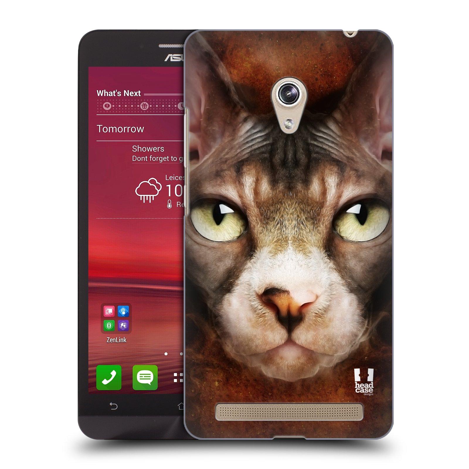 HEAD CASE plastový obal na mobil Asus Zenfone 6 vzor Zvířecí tváře kočka sphynx