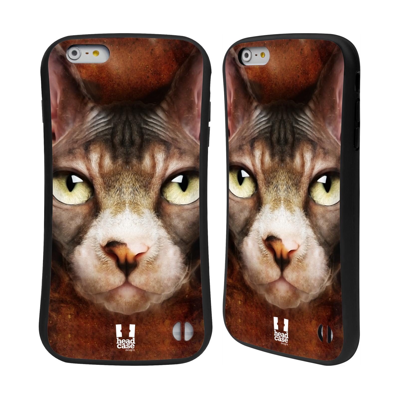 HEAD CASE silikon/plast odolný obal na mobil Apple Iphone 6 PLUS / 6S PLUS vzor Zvířecí tváře kočka sphynx