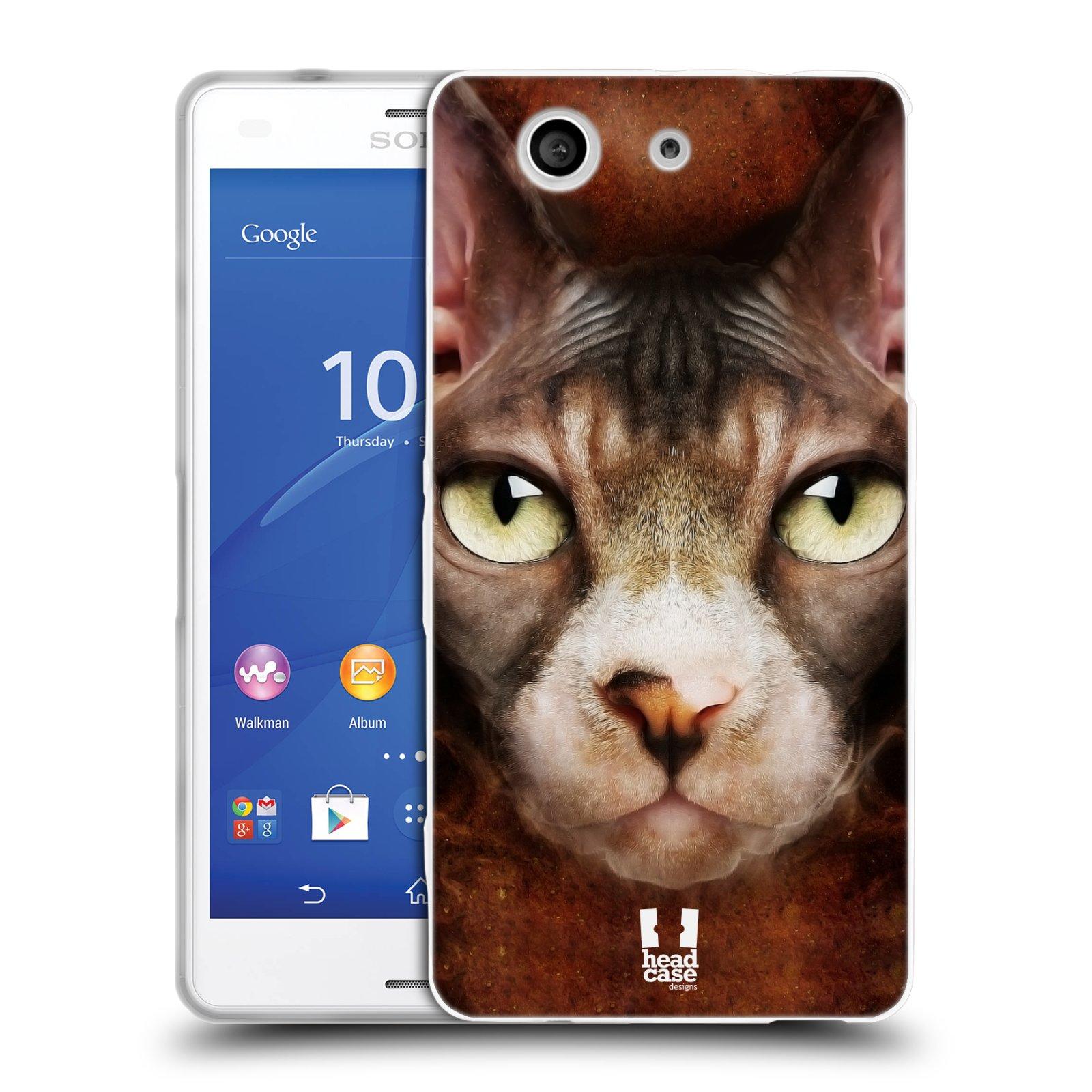 HEAD CASE silikonový obal na mobil Sony Xperia Z3 COMPACT (D5803) vzor Zvířecí tváře kočka sphynx