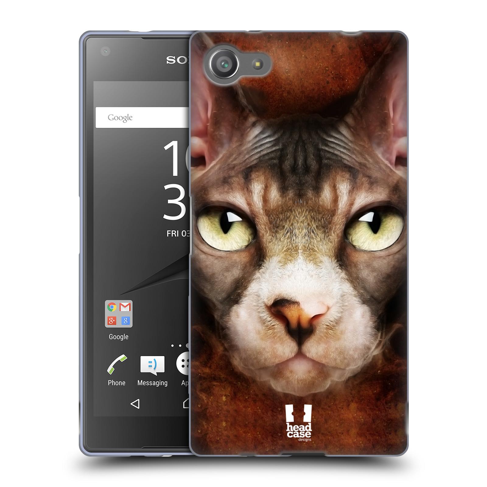 HEAD CASE silikonový obal na mobil Sony Xperia Z5 COMPACT vzor Zvířecí tváře kočka sphynx