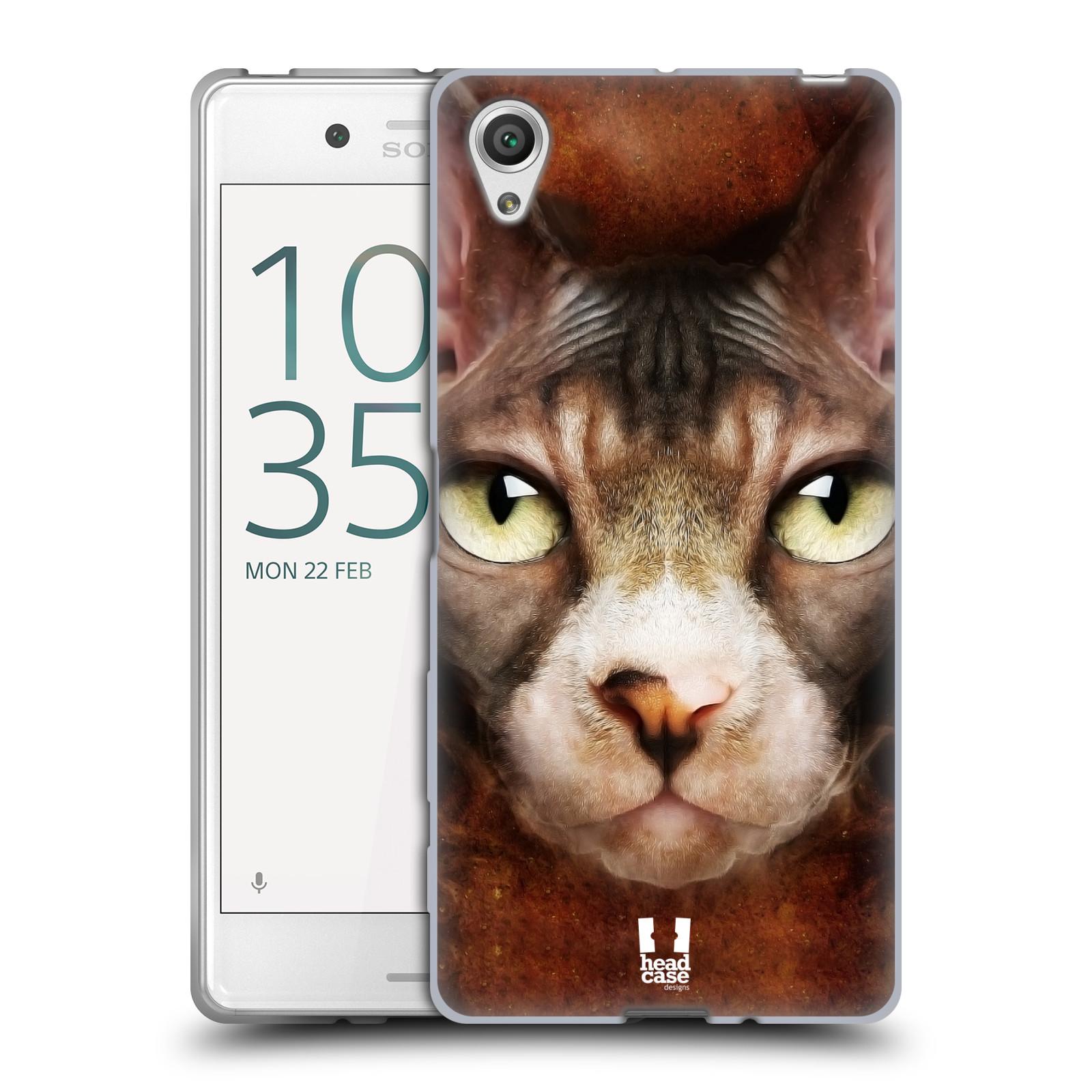 HEAD CASE silikonový obal na mobil Sony Xperia X / X DUAL vzor Zvířecí tváře kočka sphynx