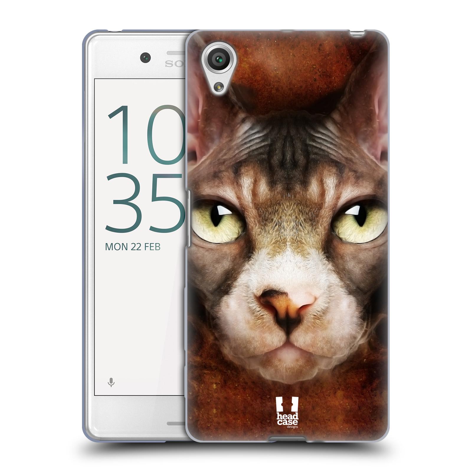 HEAD CASE silikonový obal na mobil Sony Xperia X PERFORMANCE (F8131, F8132) vzor Zvířecí tváře kočka sphynx
